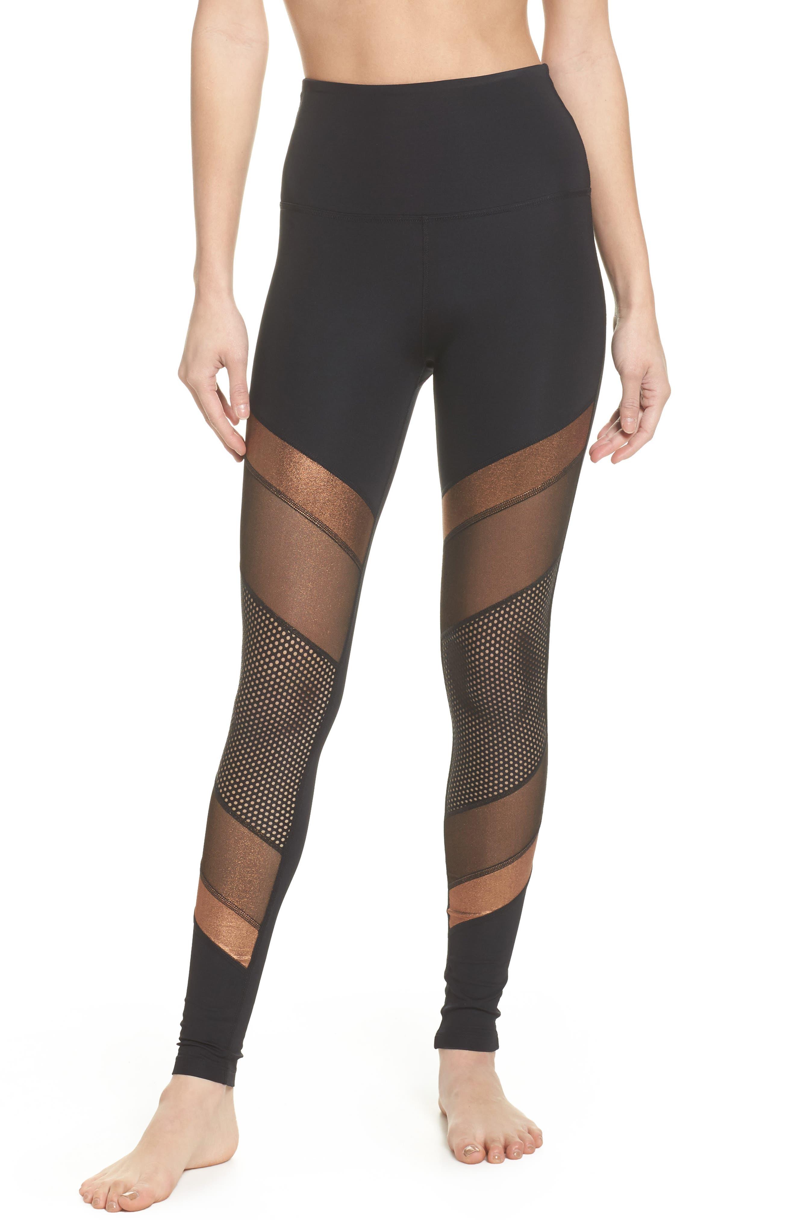 Soleil High Waist Leggings,                         Main,                         color, Black