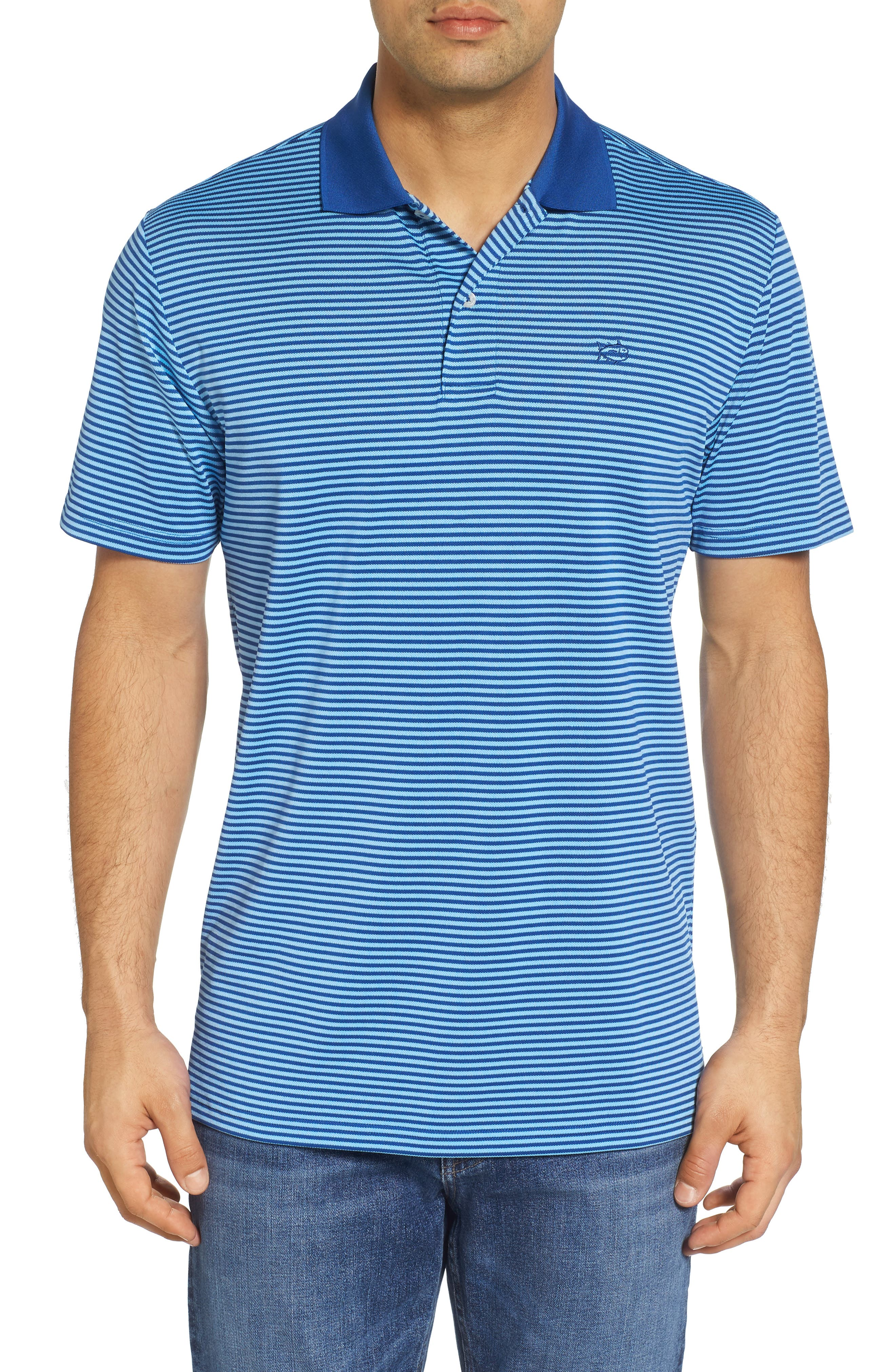 Alternate Image 1 Selected - Southern Tide Regular Fit Stripe Stretch Polo