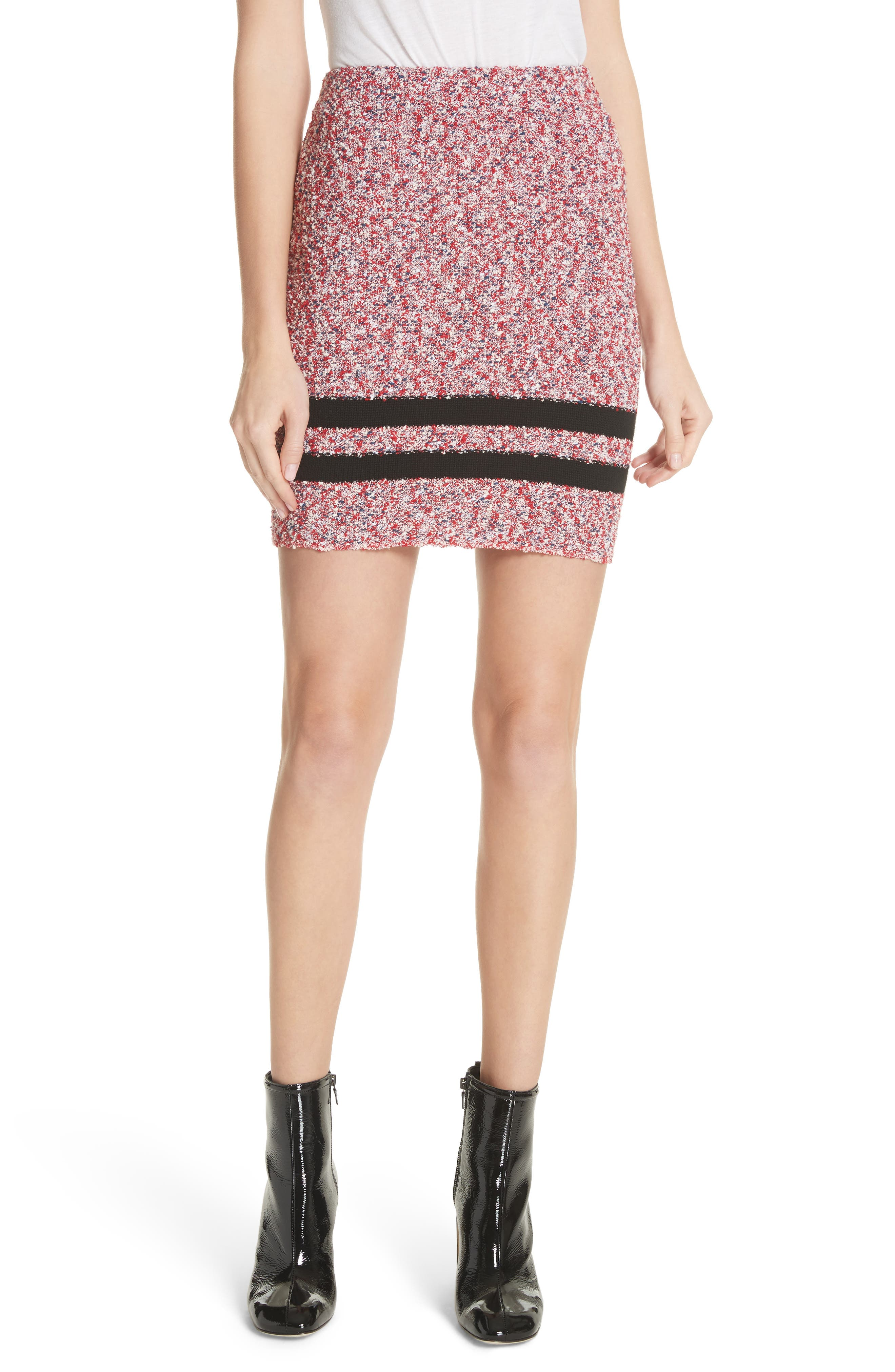 Halstead Tweed Skirt,                             Main thumbnail 1, color,                             Red