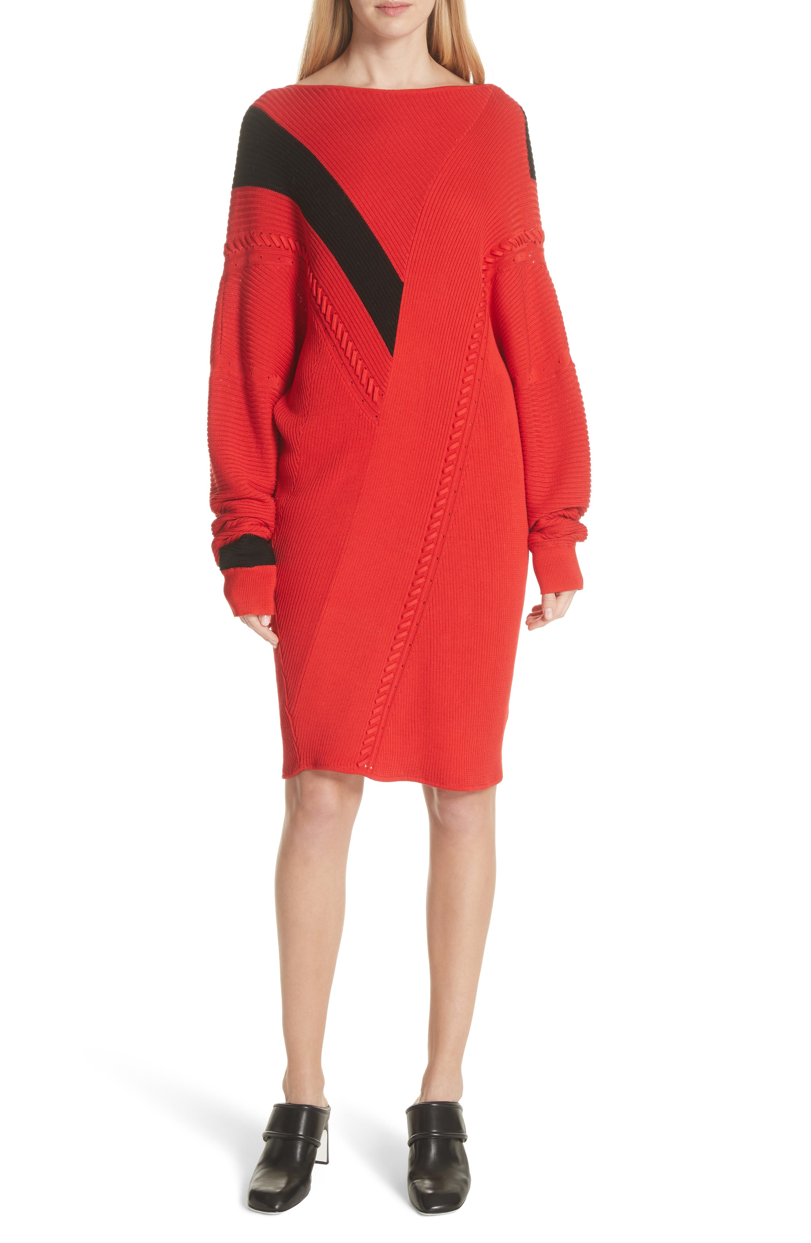 Cricket Reversible Sweater Dress,                             Main thumbnail 1, color,                             Red
