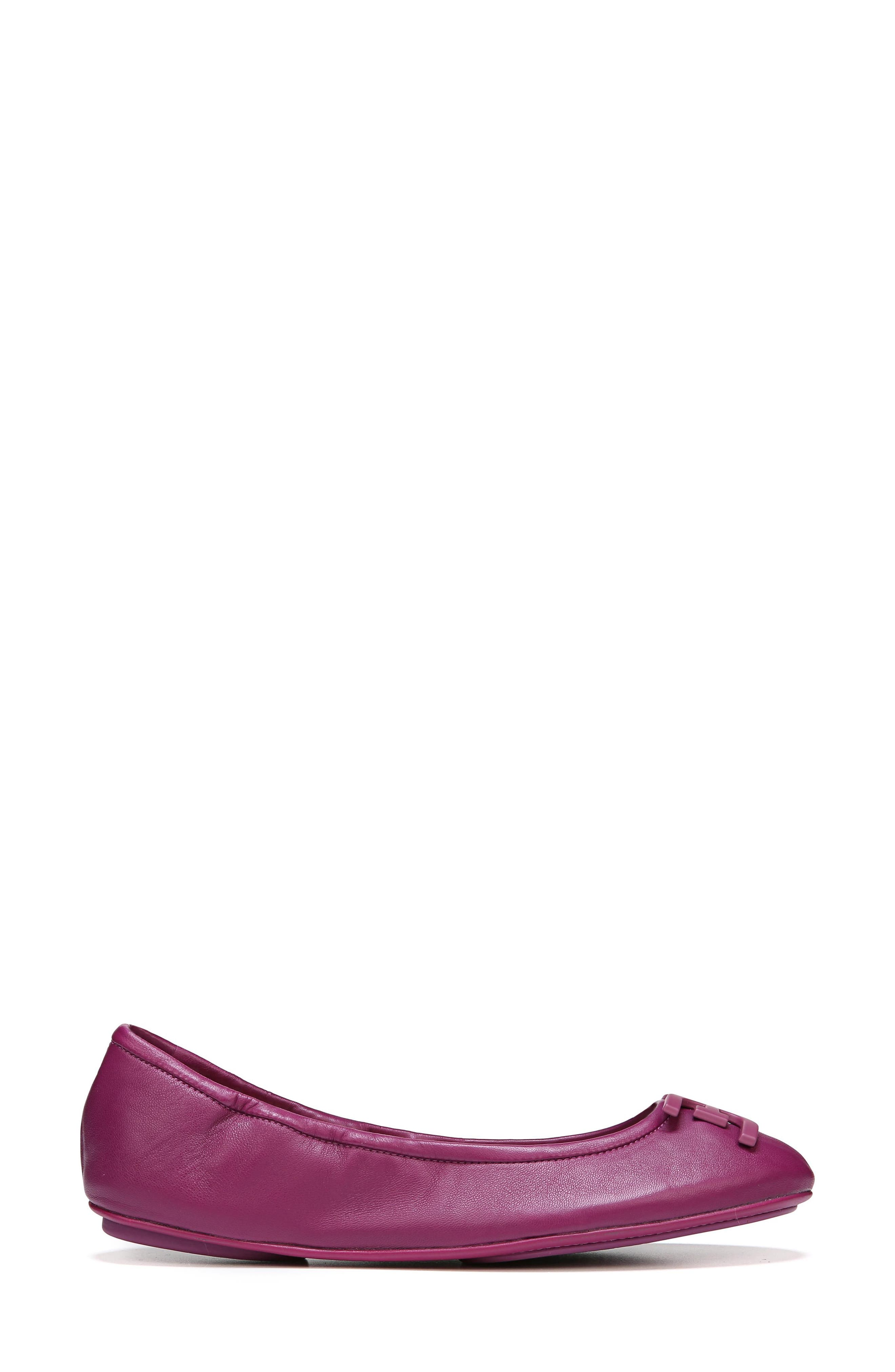 Florence Ballet Flat,                             Alternate thumbnail 6, color,                             Mulberry Pink Leather