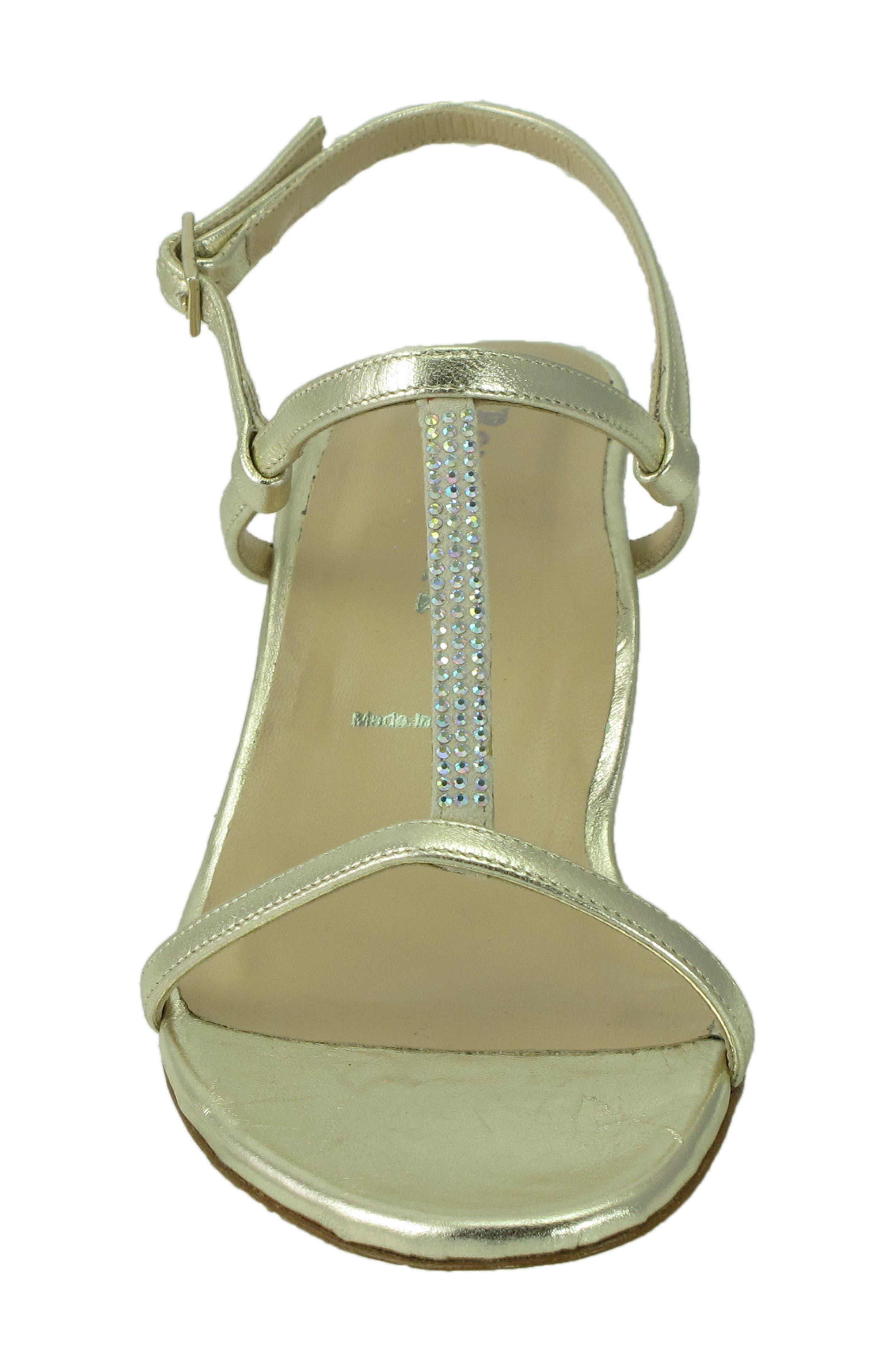 Floto Sandal,                             Alternate thumbnail 4, color,                             Platino Leather