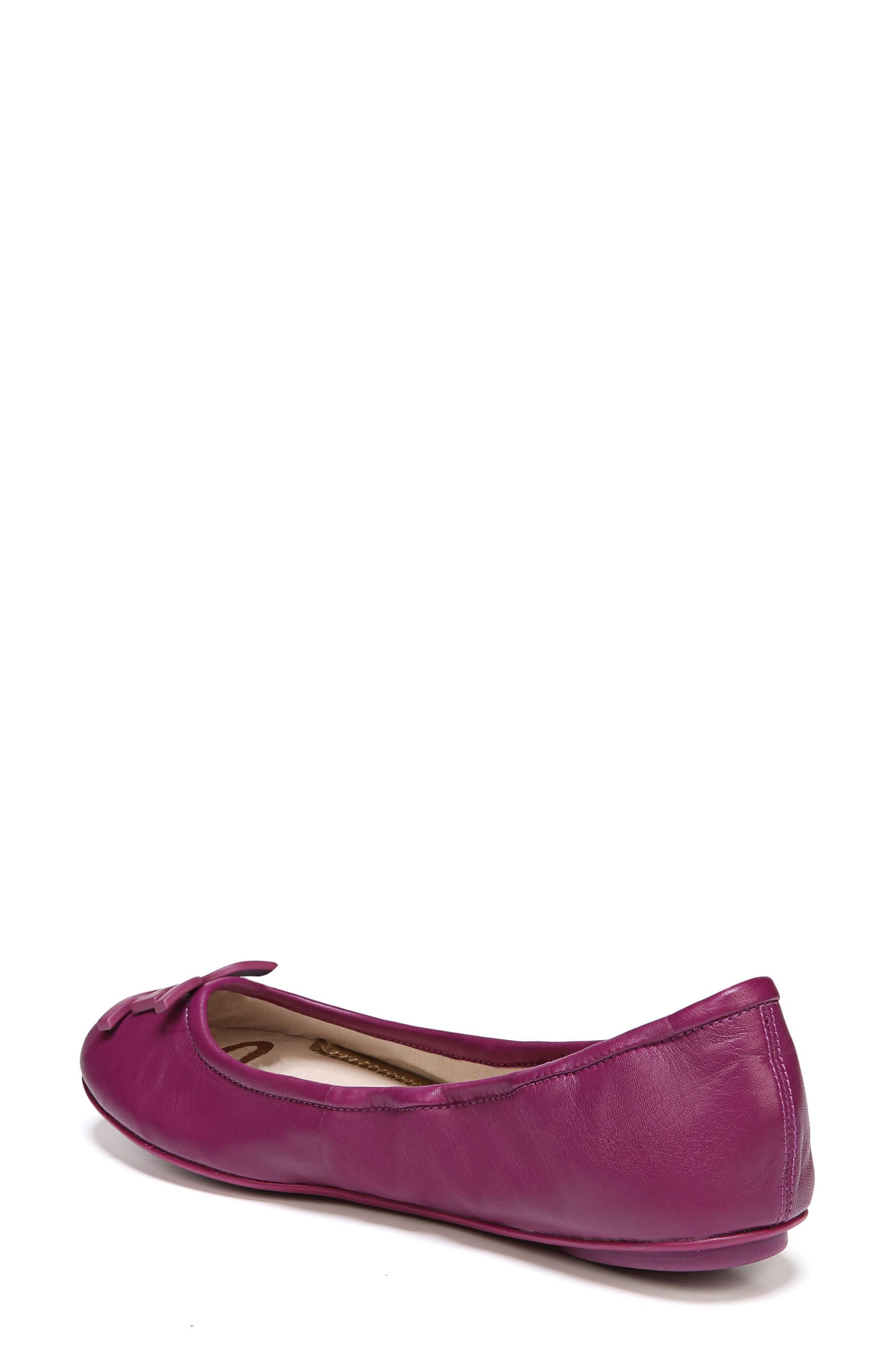 Florence Ballet Flat,                             Alternate thumbnail 2, color,                             Mulberry Pink Leather