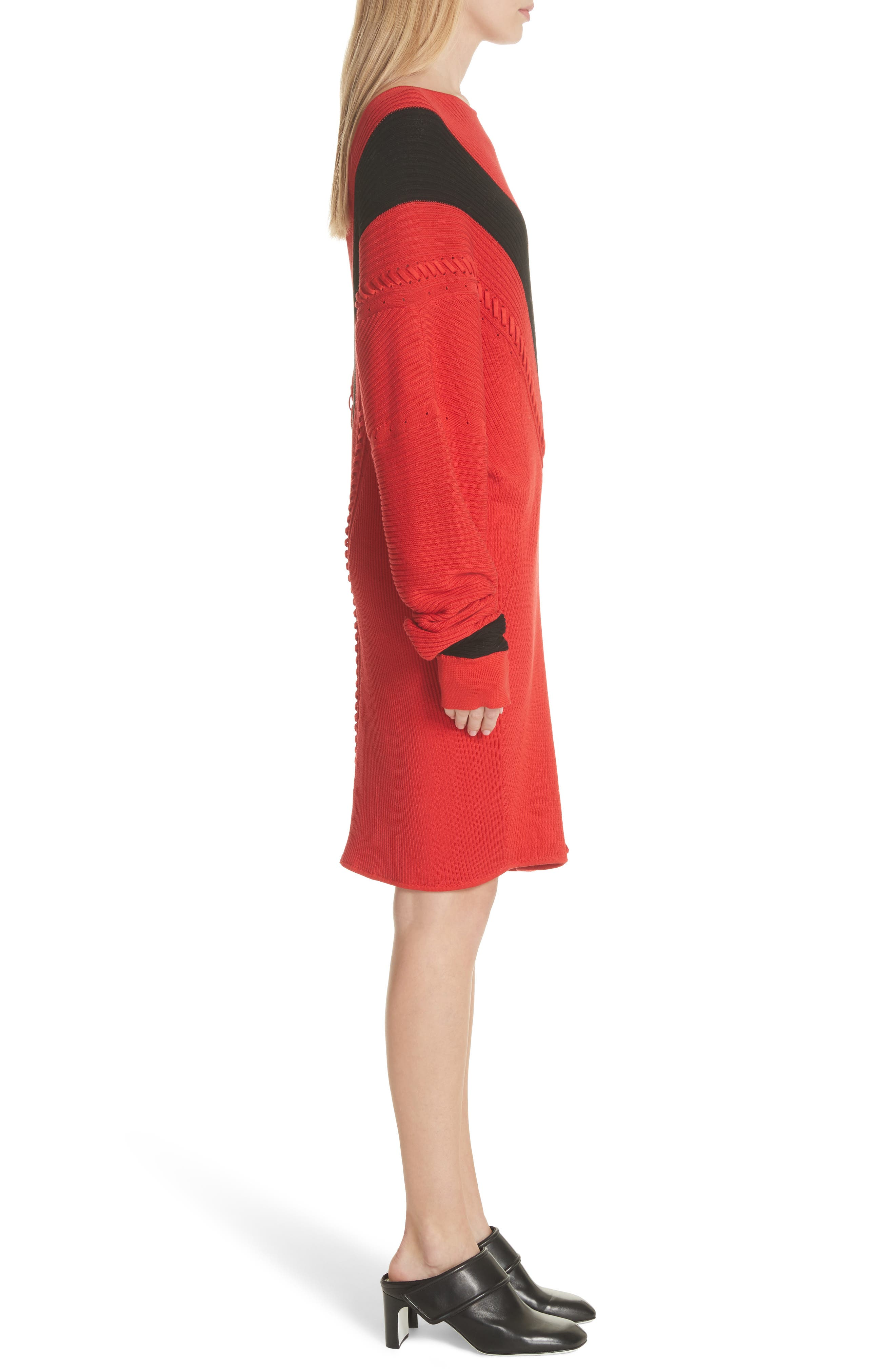 Cricket Reversible Sweater Dress,                             Alternate thumbnail 3, color,                             Red