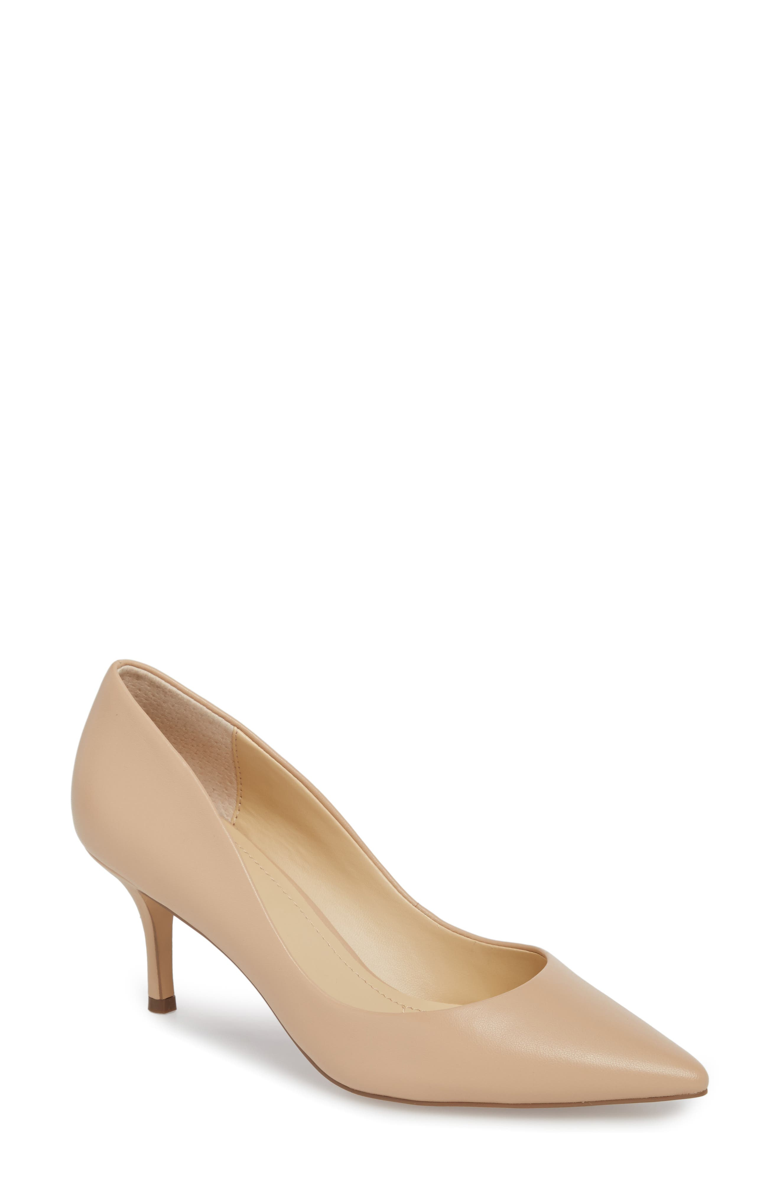 Addie Pump,                             Main thumbnail 1, color,                             Nude Leather