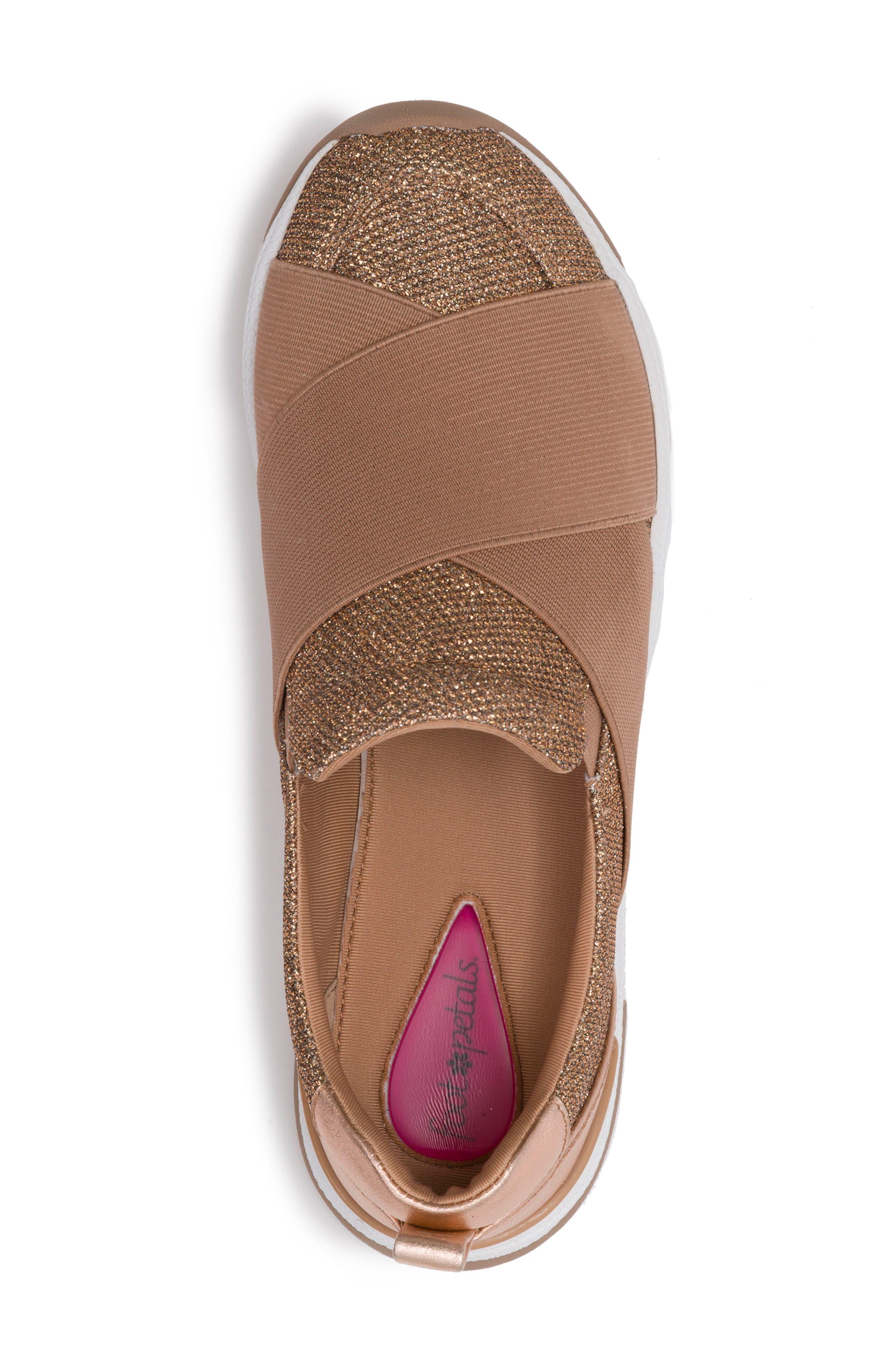 Slip-On Sneaker,                             Alternate thumbnail 5, color,                             Rose Gold Leather