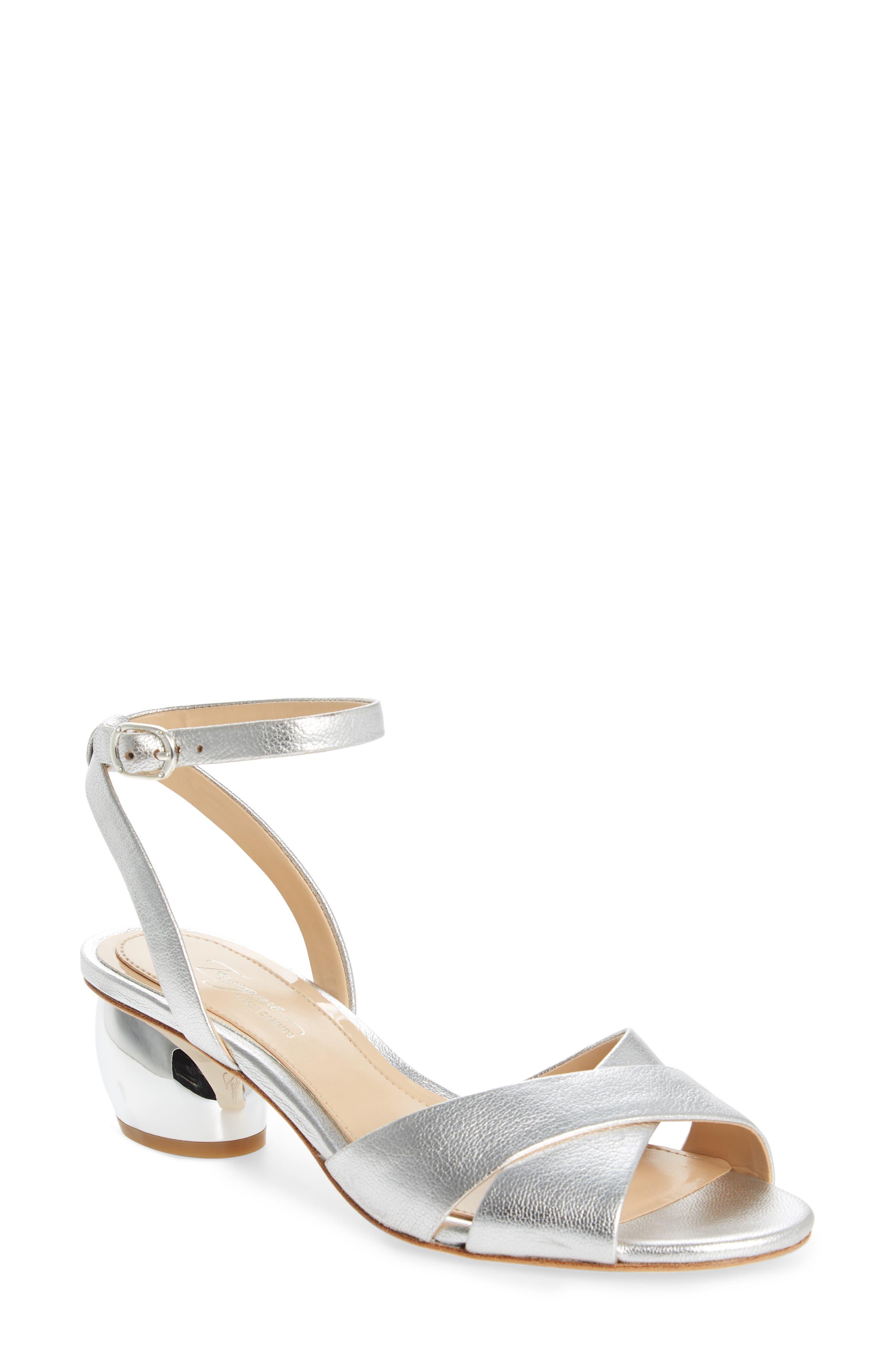 Leven Sandal,                         Main,                         color, Platinum Leather