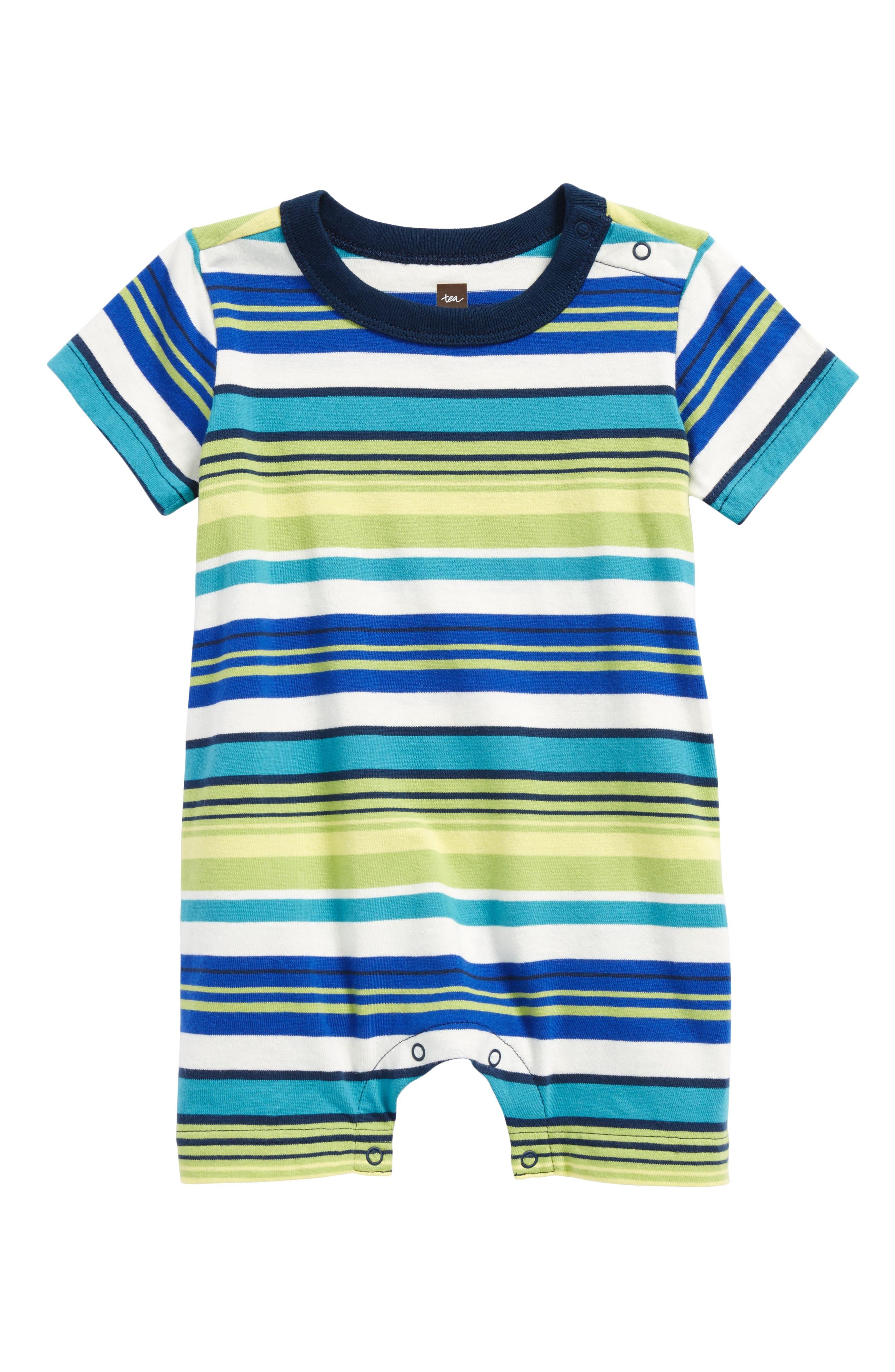 Stripe Romper,                         Main,                         color, Peridot