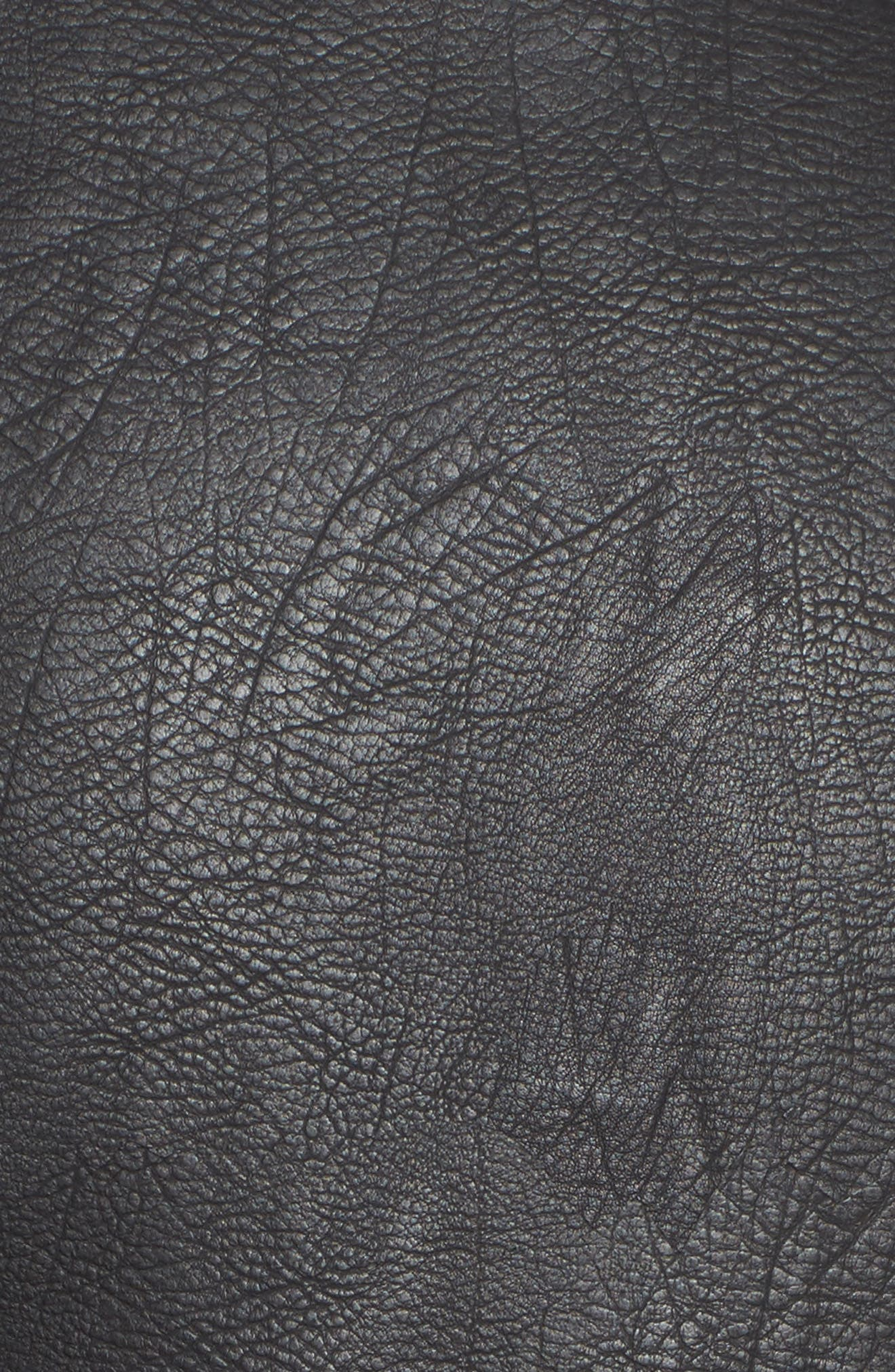 Oversize Faux Leather Moto Jacket,                             Alternate thumbnail 5, color,                             Black