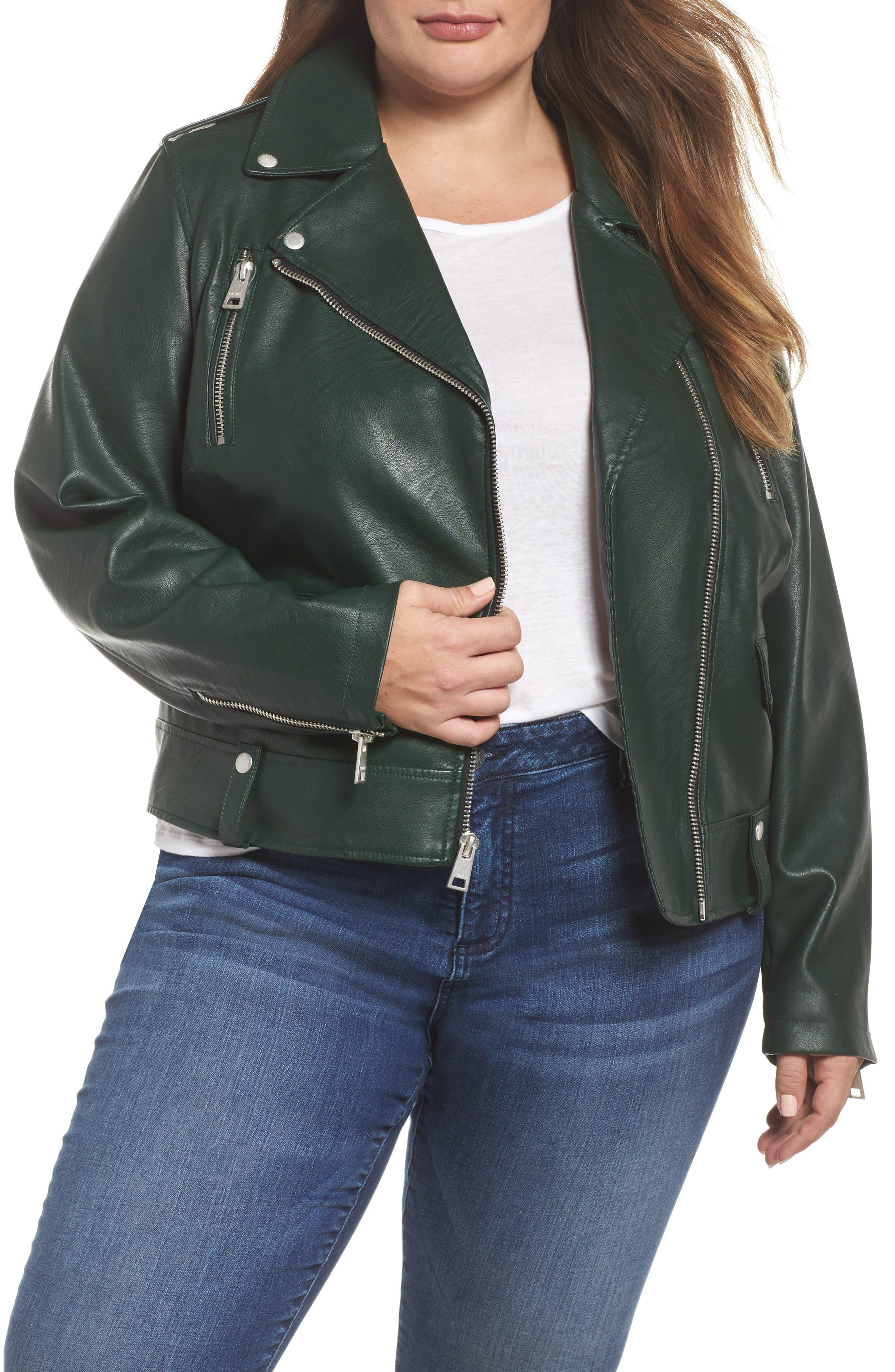 Levi's® Lamb Touch Faux Leather Moto Jacket (Plus Size)