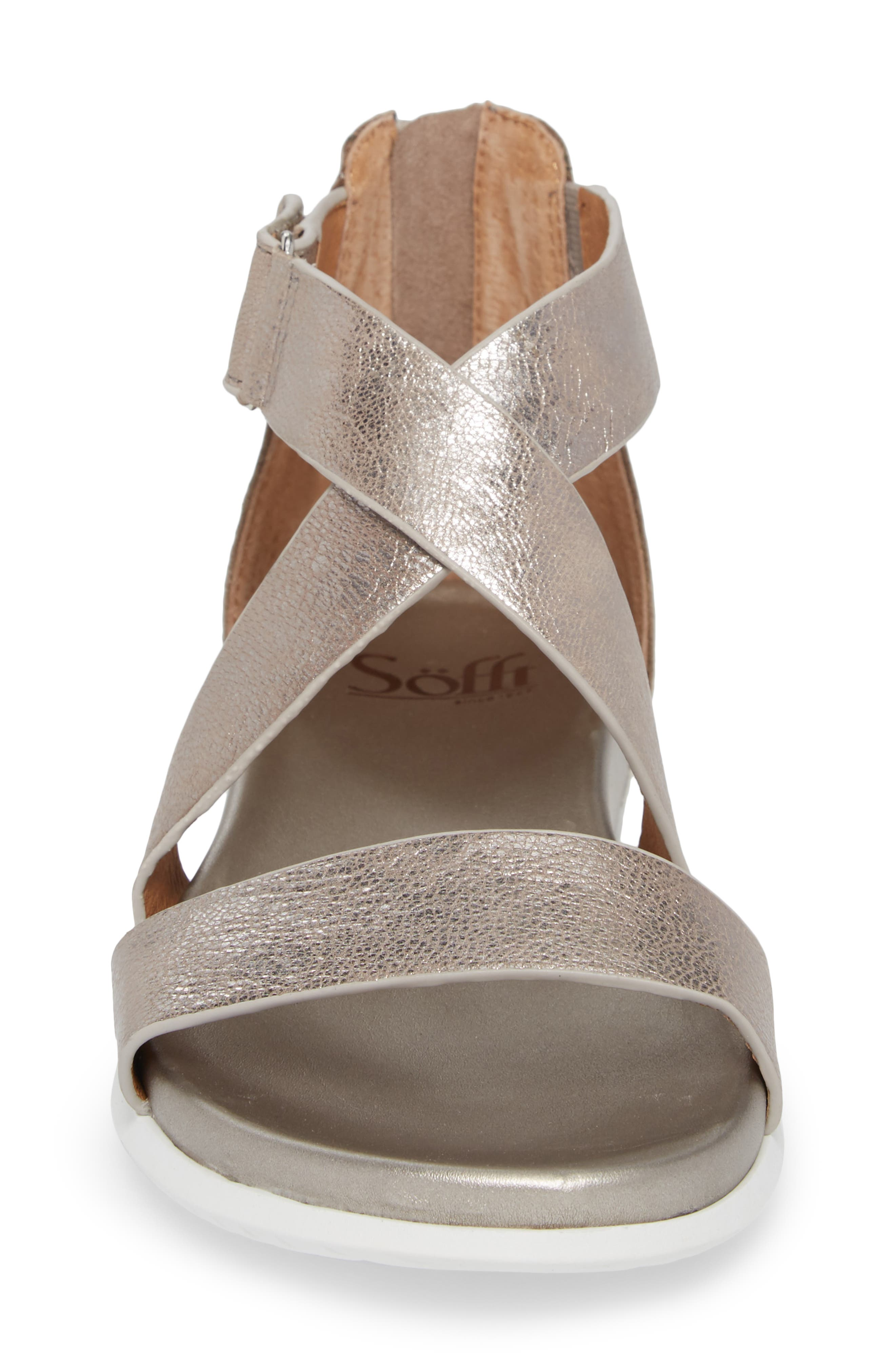 Fiora Sandal,                             Alternate thumbnail 4, color,                             Anthracite Leather