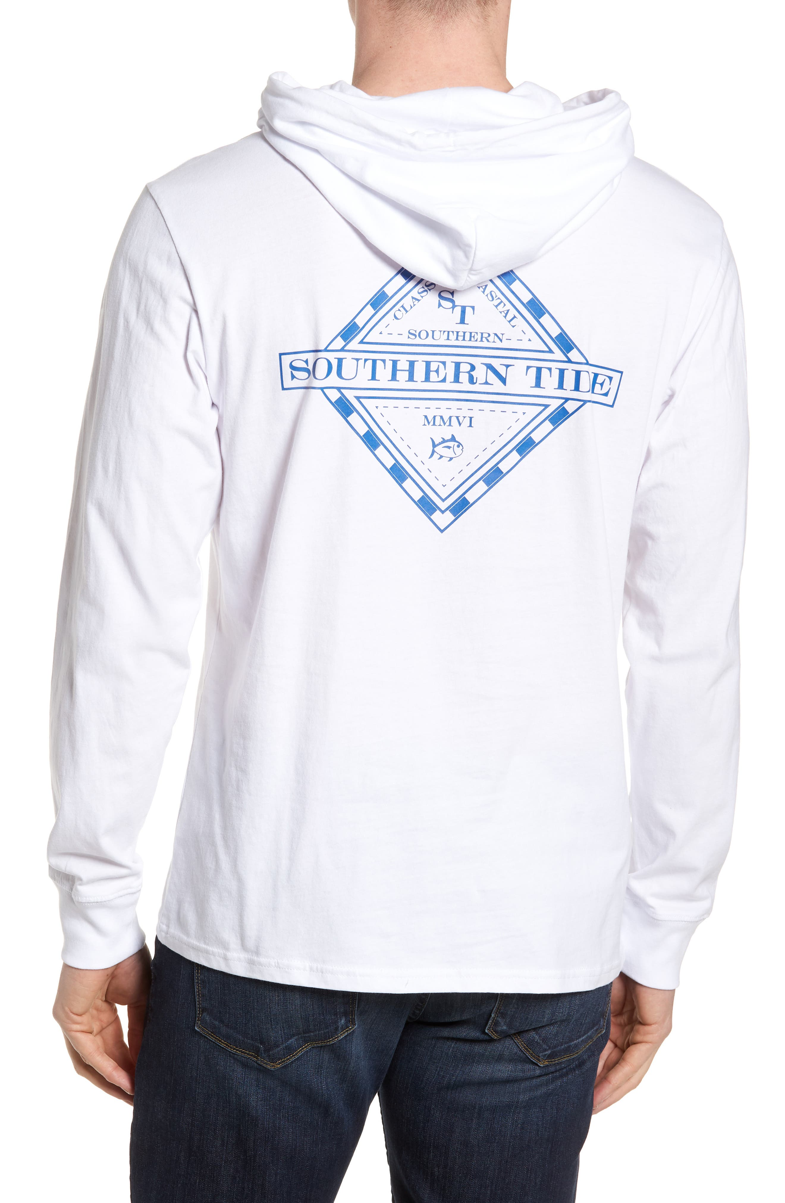 Diamond Logo Hoodie,                             Alternate thumbnail 2, color,                             Classic White