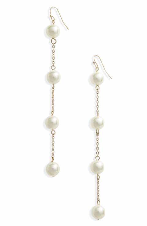 Top Imitation Pearl Drop Earrings