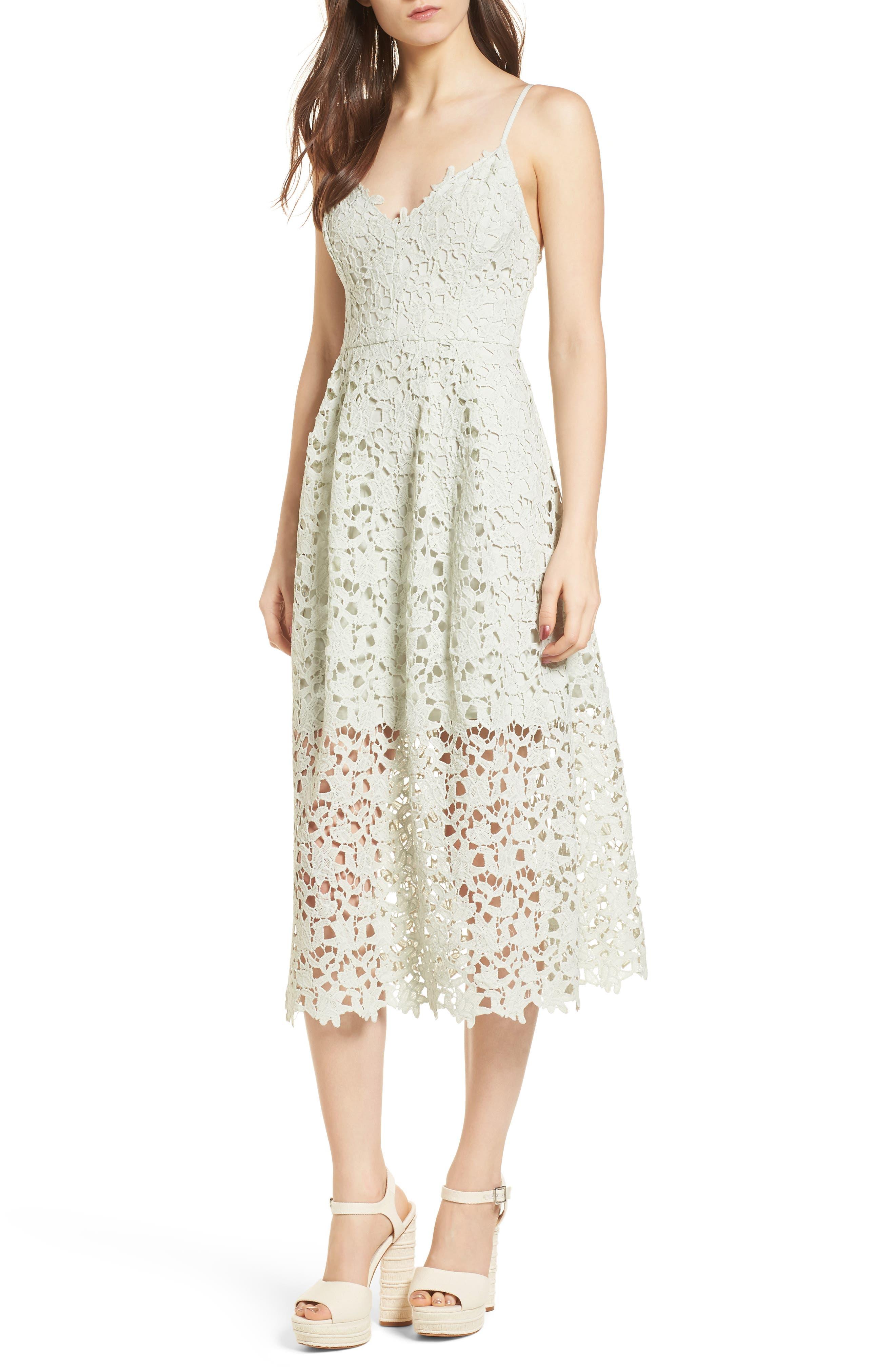 Incroyable ASTR The Label Lace Midi Dress