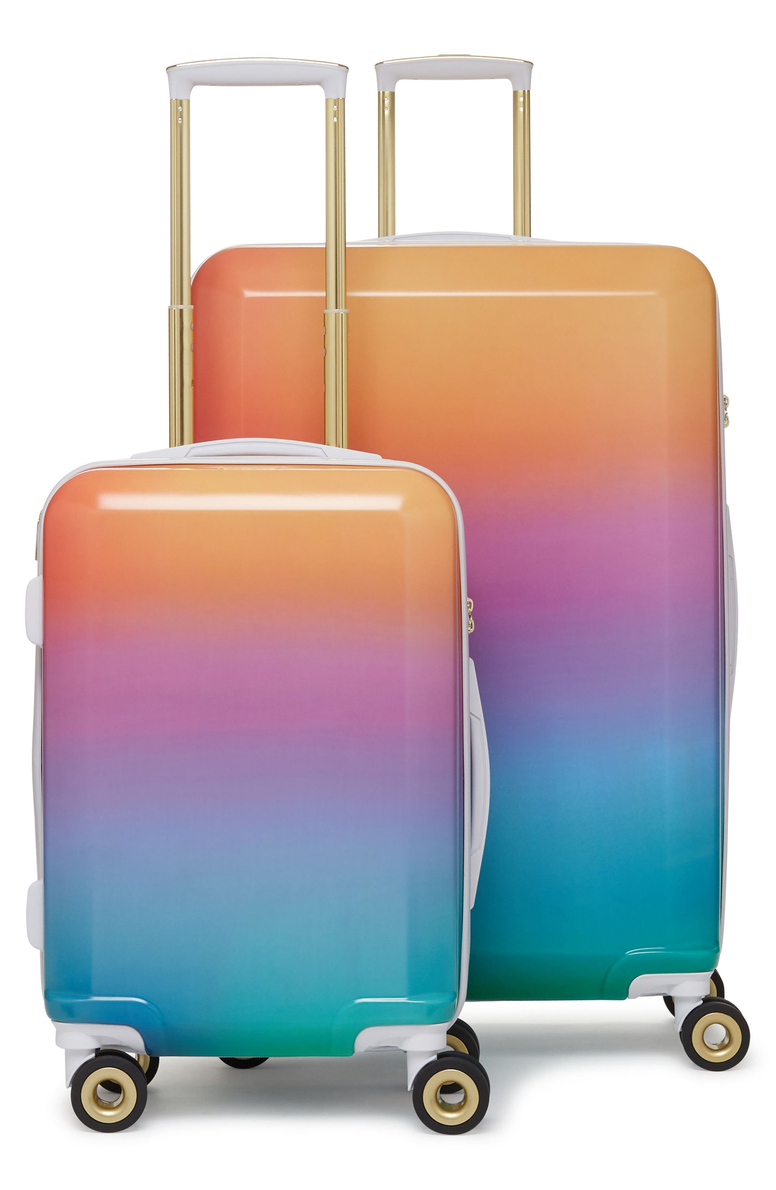 x Oh Joy! 28-Inch & 20-Inch Hardshell Spinner Suitcase & Carry-On Set,                         Main,                         color, Sunset