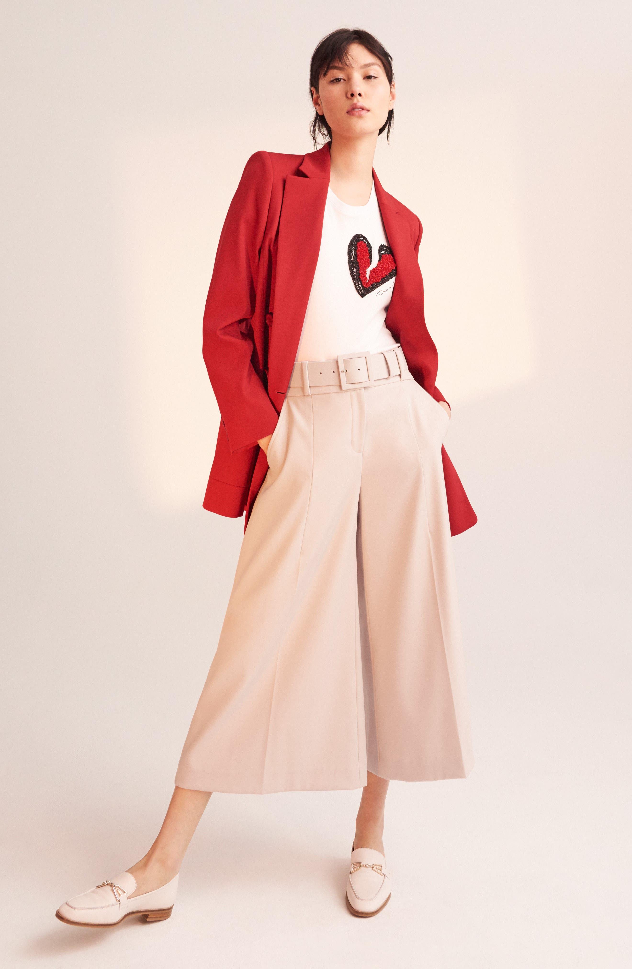 Alternate Image 2  - Oscar de la Renta Stretch Wool Gabardine Culottes