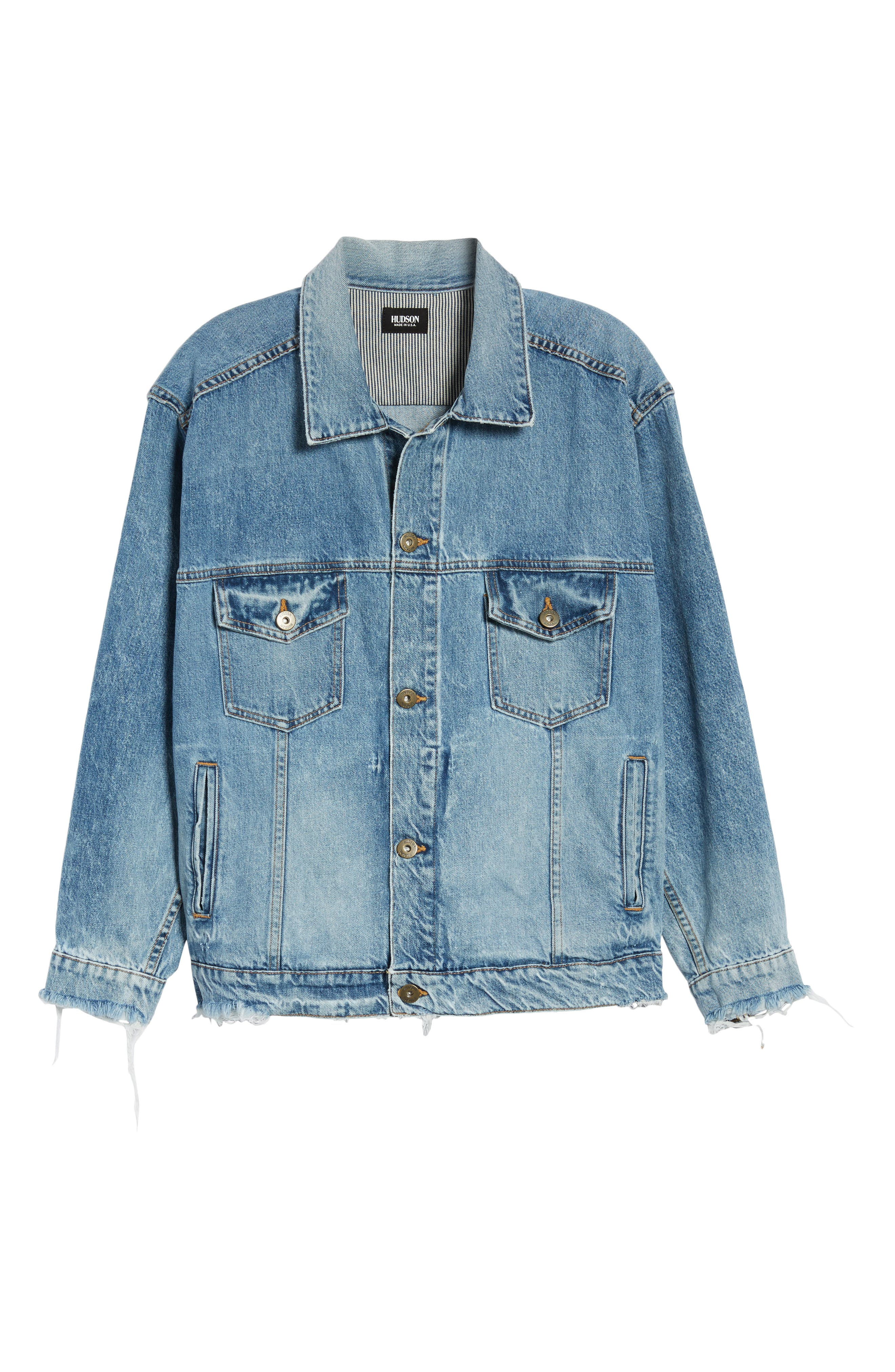 Denim Trucker Jacket,                             Alternate thumbnail 6, color,                             Hardtail