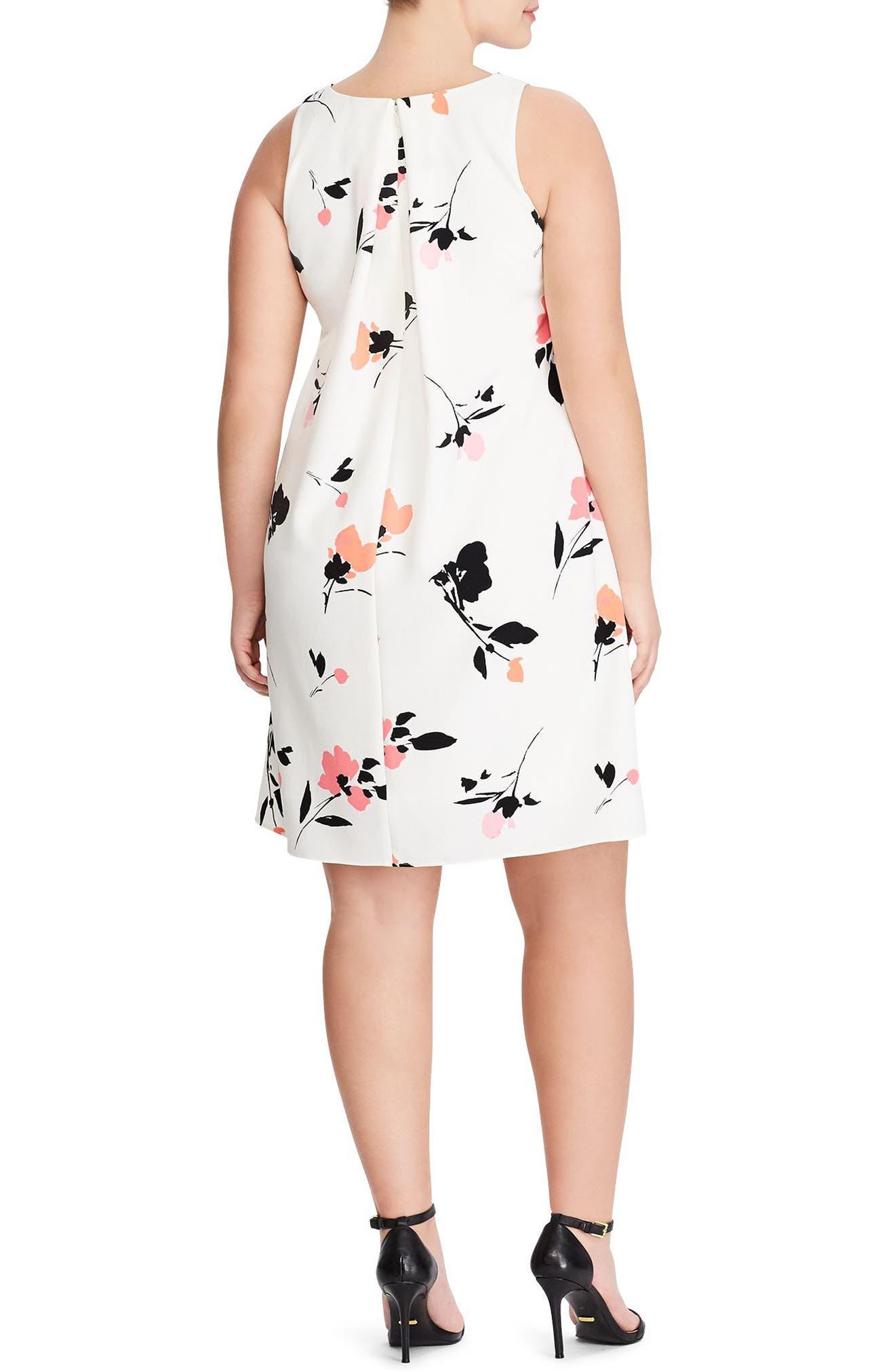 Paland Brunette Park Floral Shift Dress,                             Alternate thumbnail 2, color,                             Col. Cream-Peach-Multi