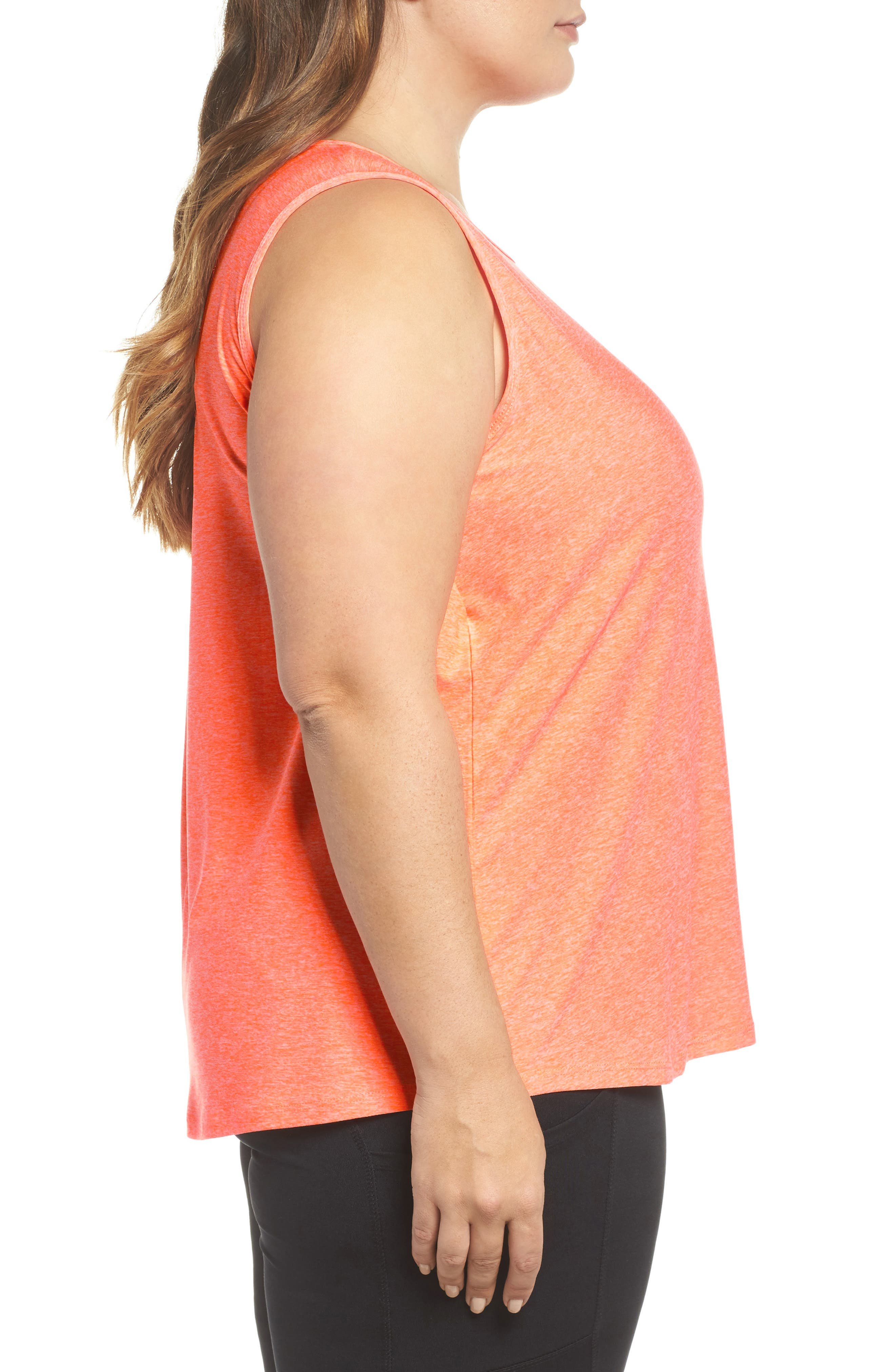Crossover Tank,                             Alternate thumbnail 3, color,                             Heather Tangerine Fizz
