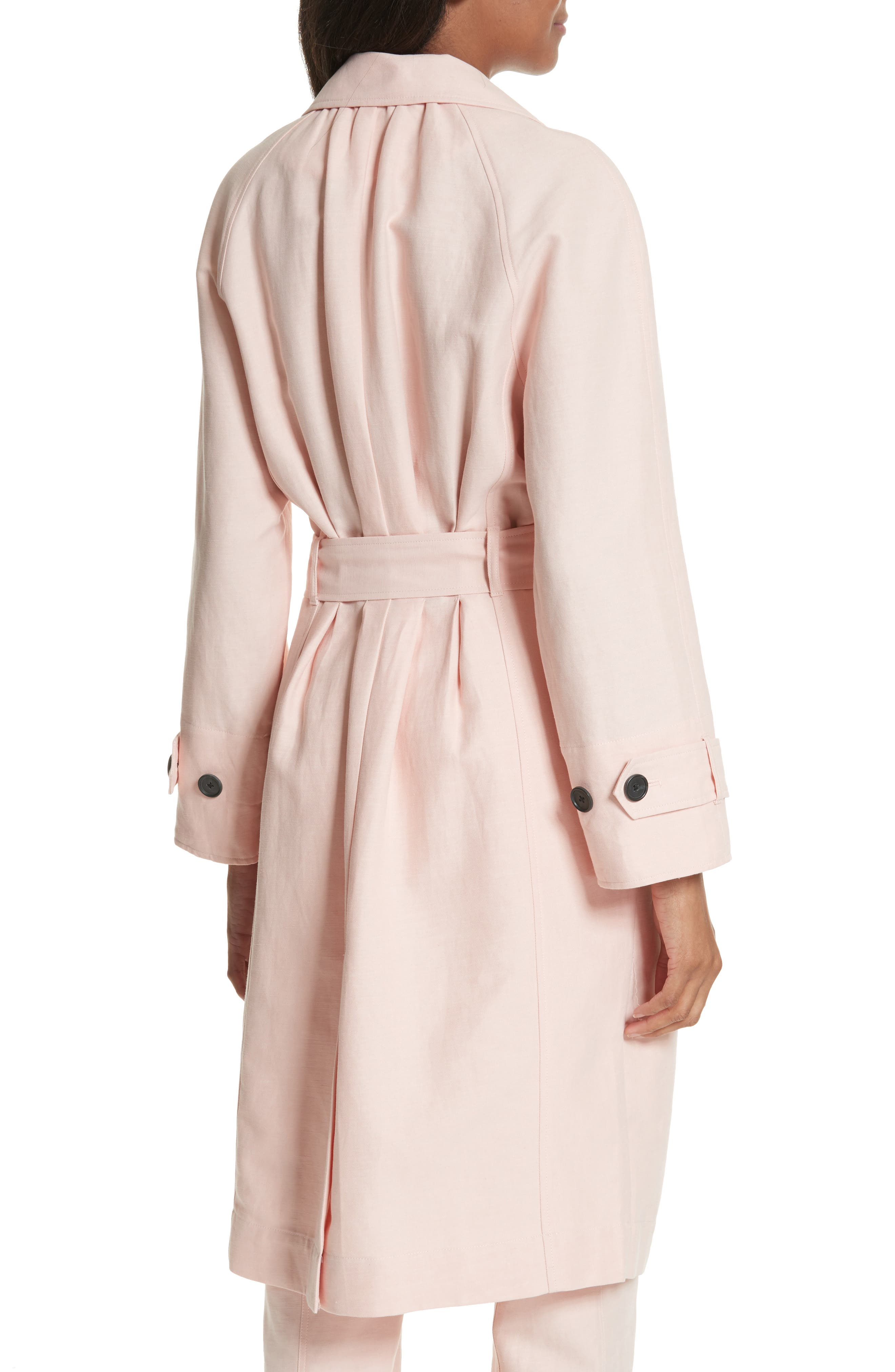 Damonica Trench Coat,                             Alternate thumbnail 2, color,                             Washed Rose