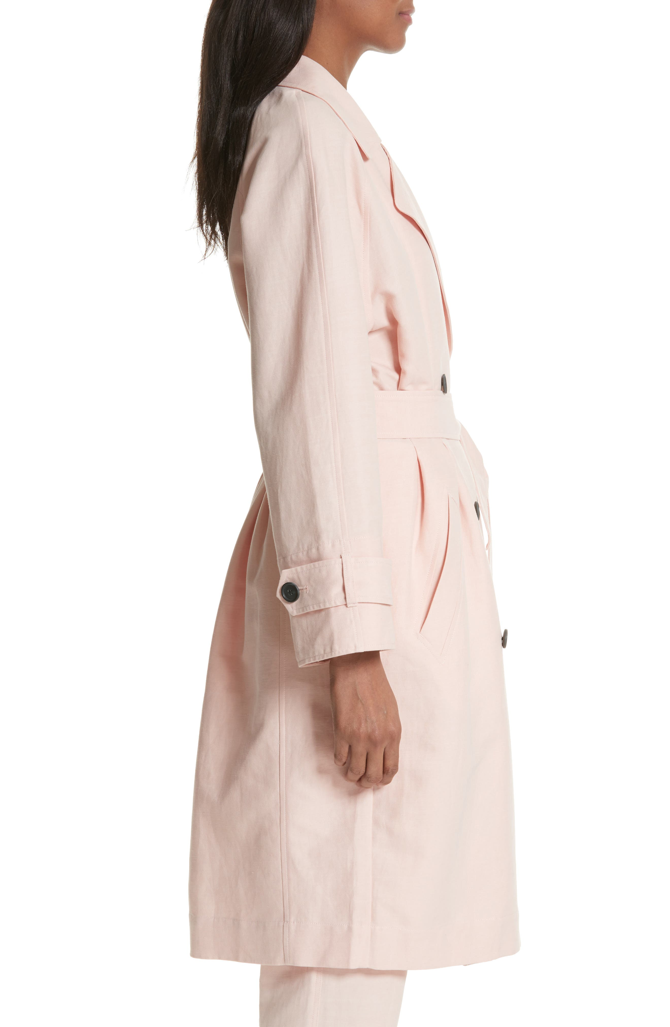 Damonica Trench Coat,                             Alternate thumbnail 3, color,                             Washed Rose