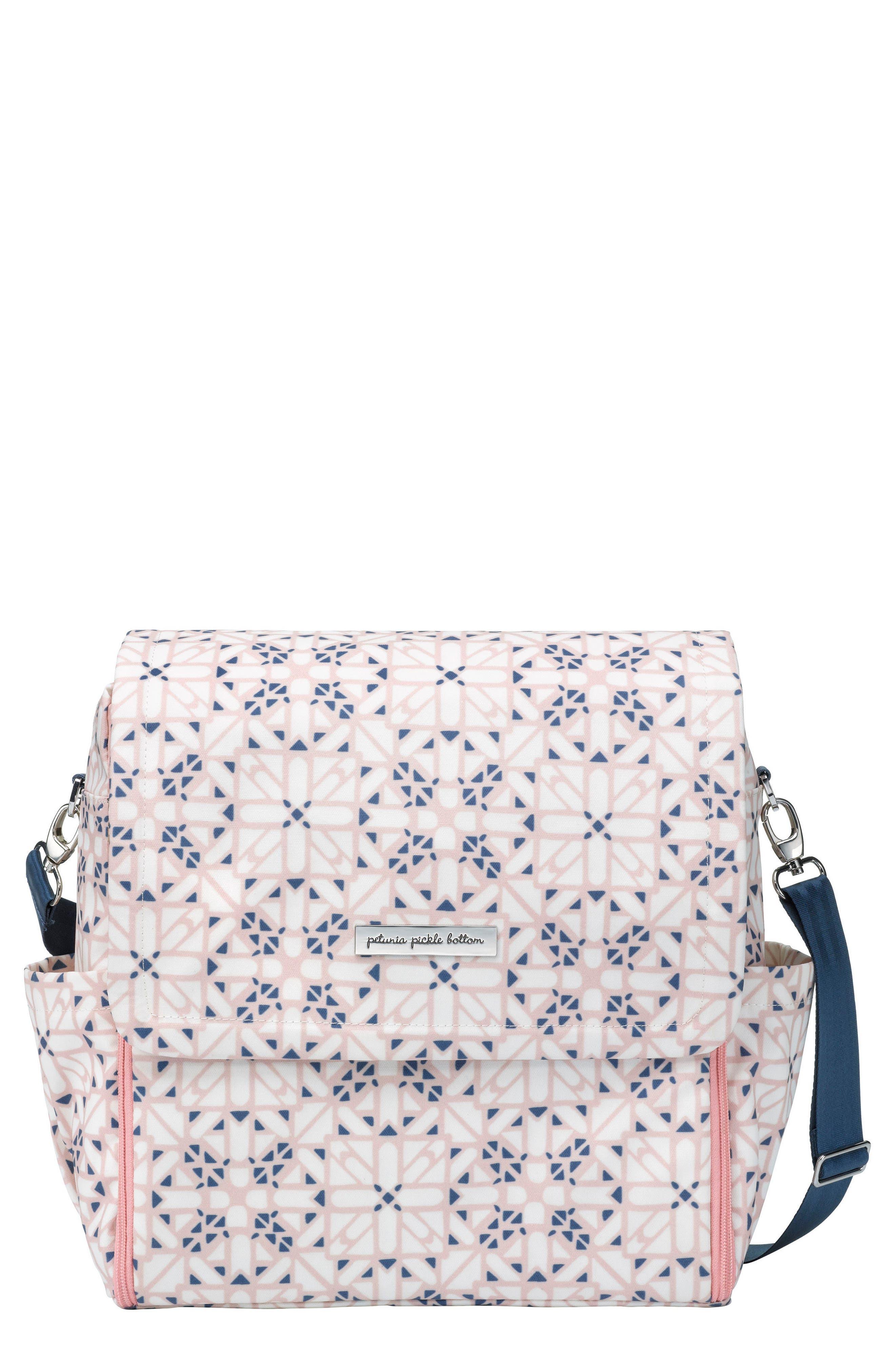 'Boxy Glazed' Diaper Bag,                             Main thumbnail 1, color,                             Alpine Meadows
