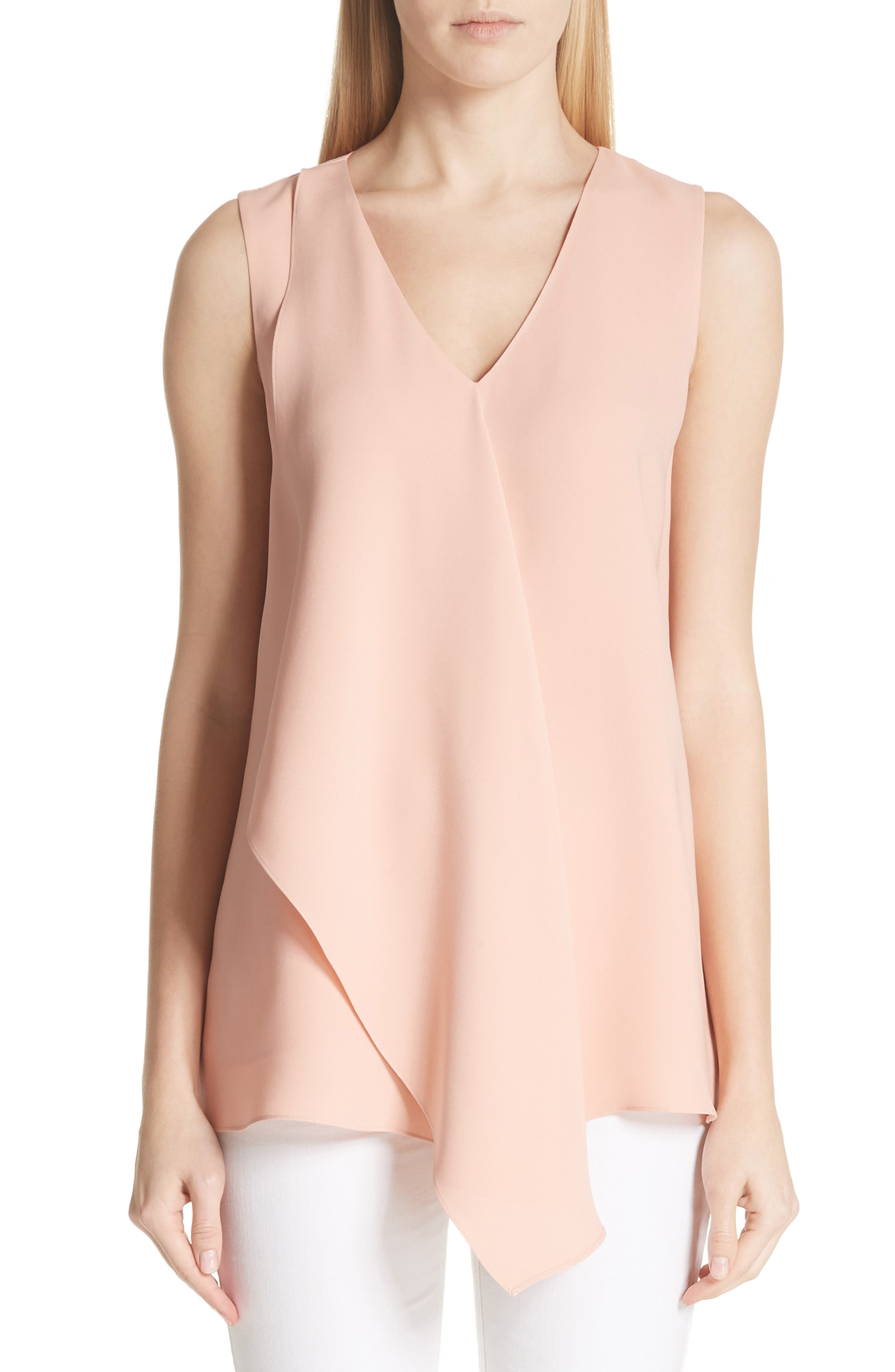 Lafayette 148 New York Cooper Double Silk Georgete Blouse
