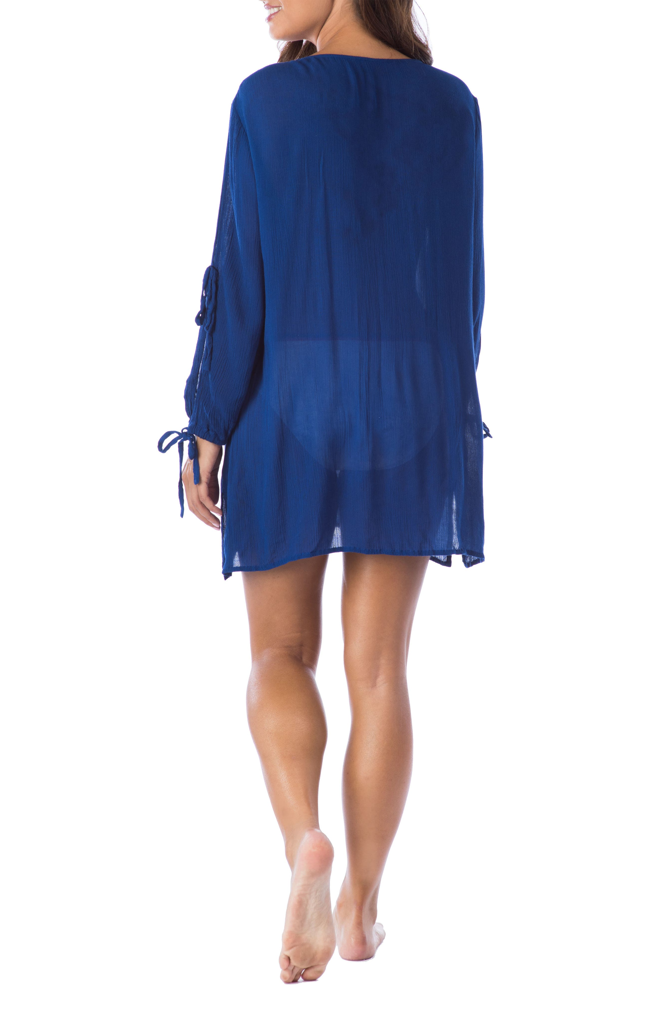 Alternate Image 2  - La Blanca Leaf It Cover-Up Tunic