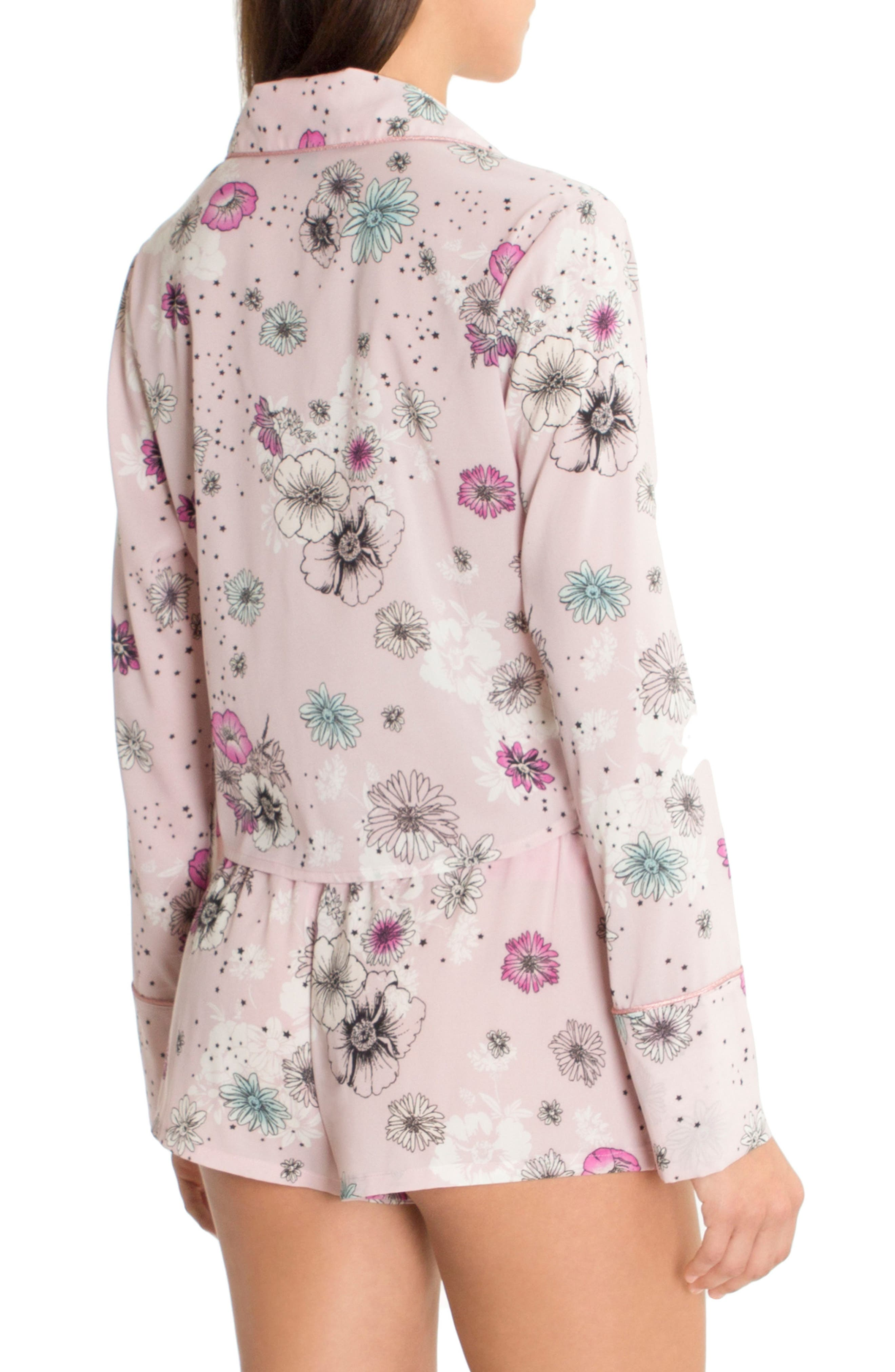Crop Pajama Top,                             Alternate thumbnail 2, color,                             Lilac