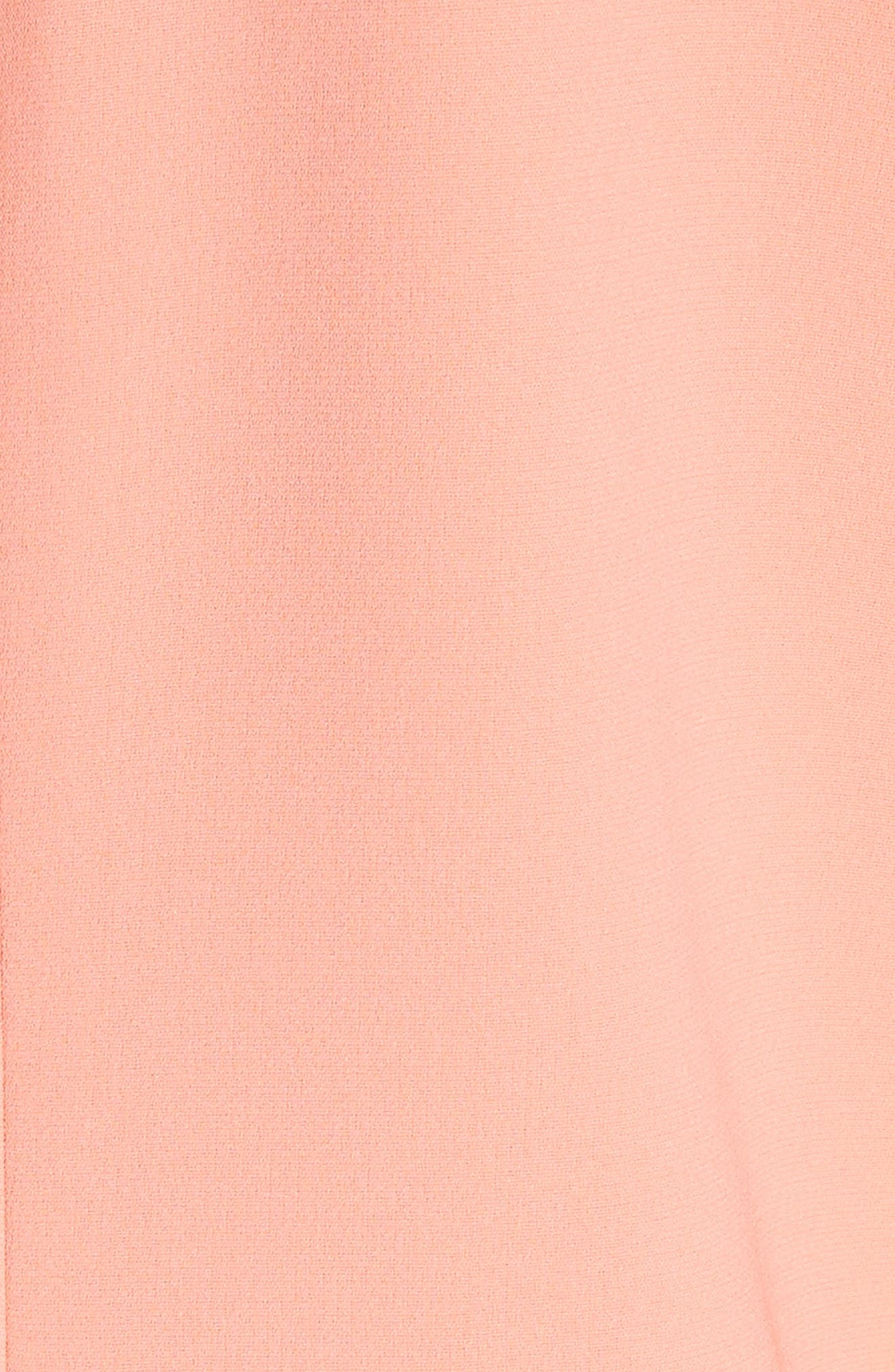 Holly Bell Sleeve Dress,                             Alternate thumbnail 6, color,                             Coral Reef