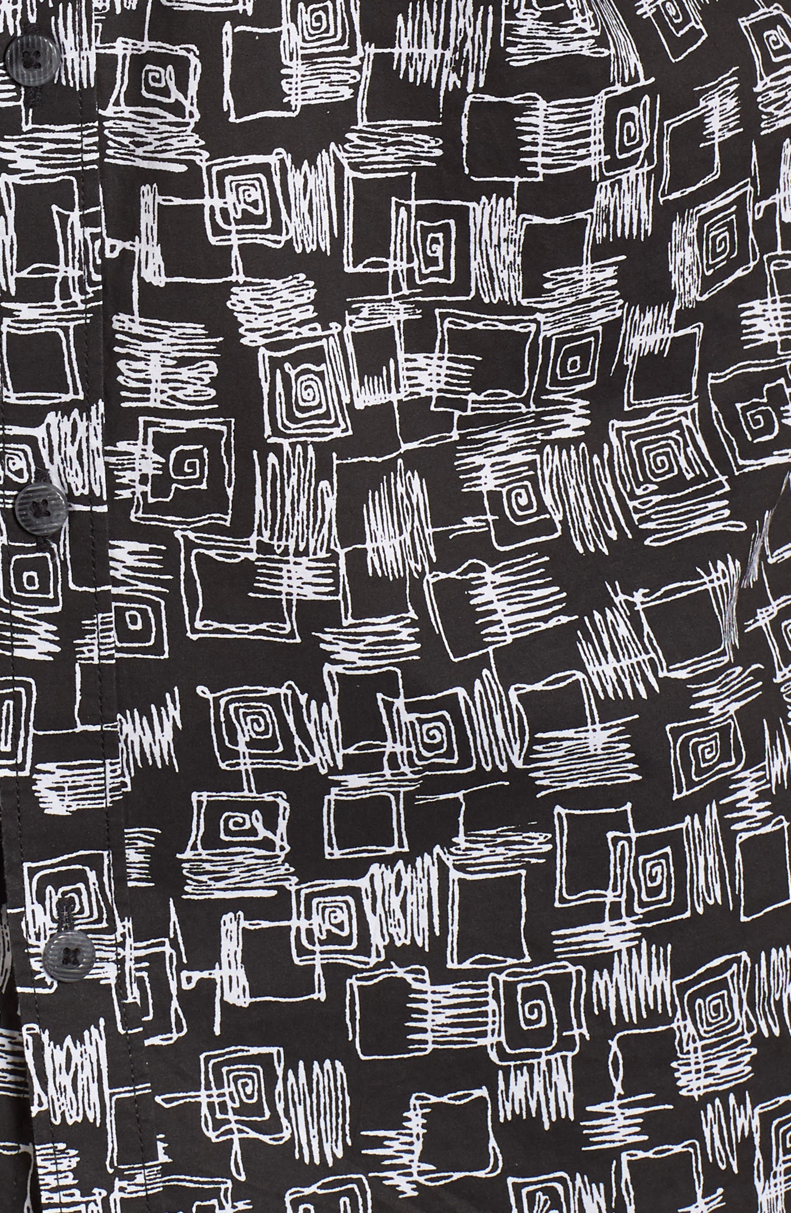 Sundays Mini Short Sleeve Shirt,                             Alternate thumbnail 5, color,                             Black
