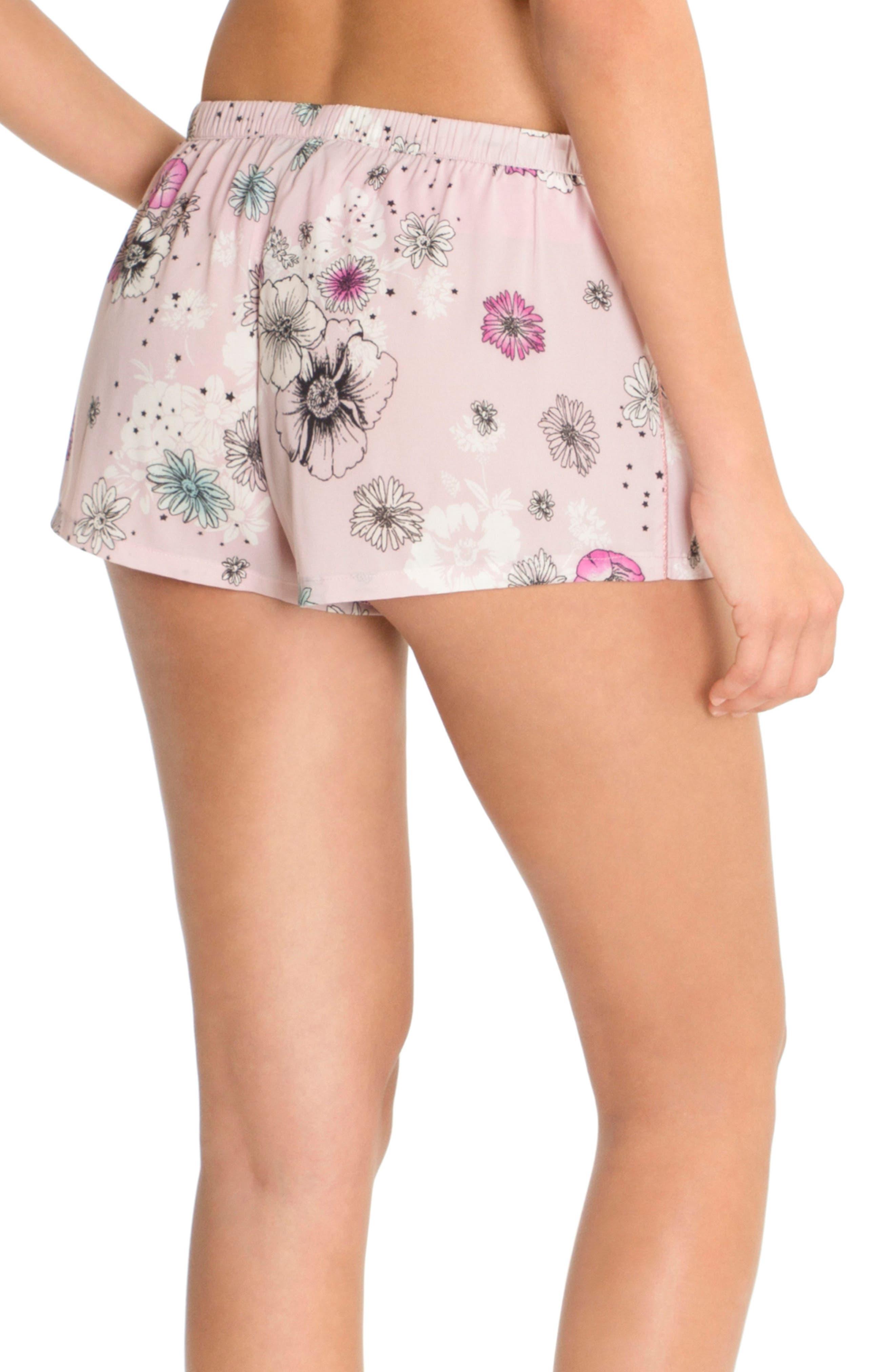 Print Pajama Shorts,                             Alternate thumbnail 2, color,                             Lilac