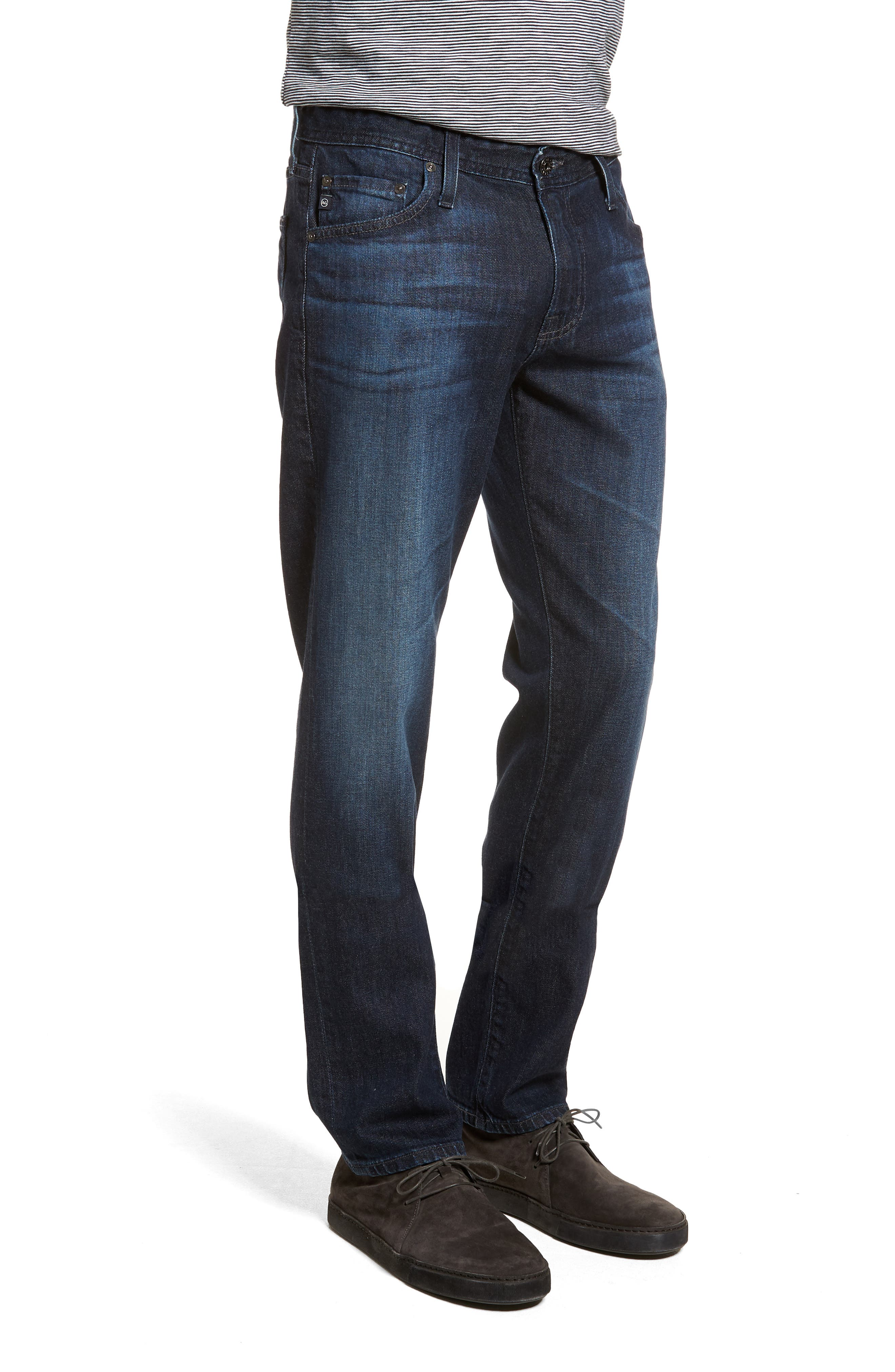 Graduate Slim Straight Leg Jeans,                             Alternate thumbnail 3, color,                             Stafford
