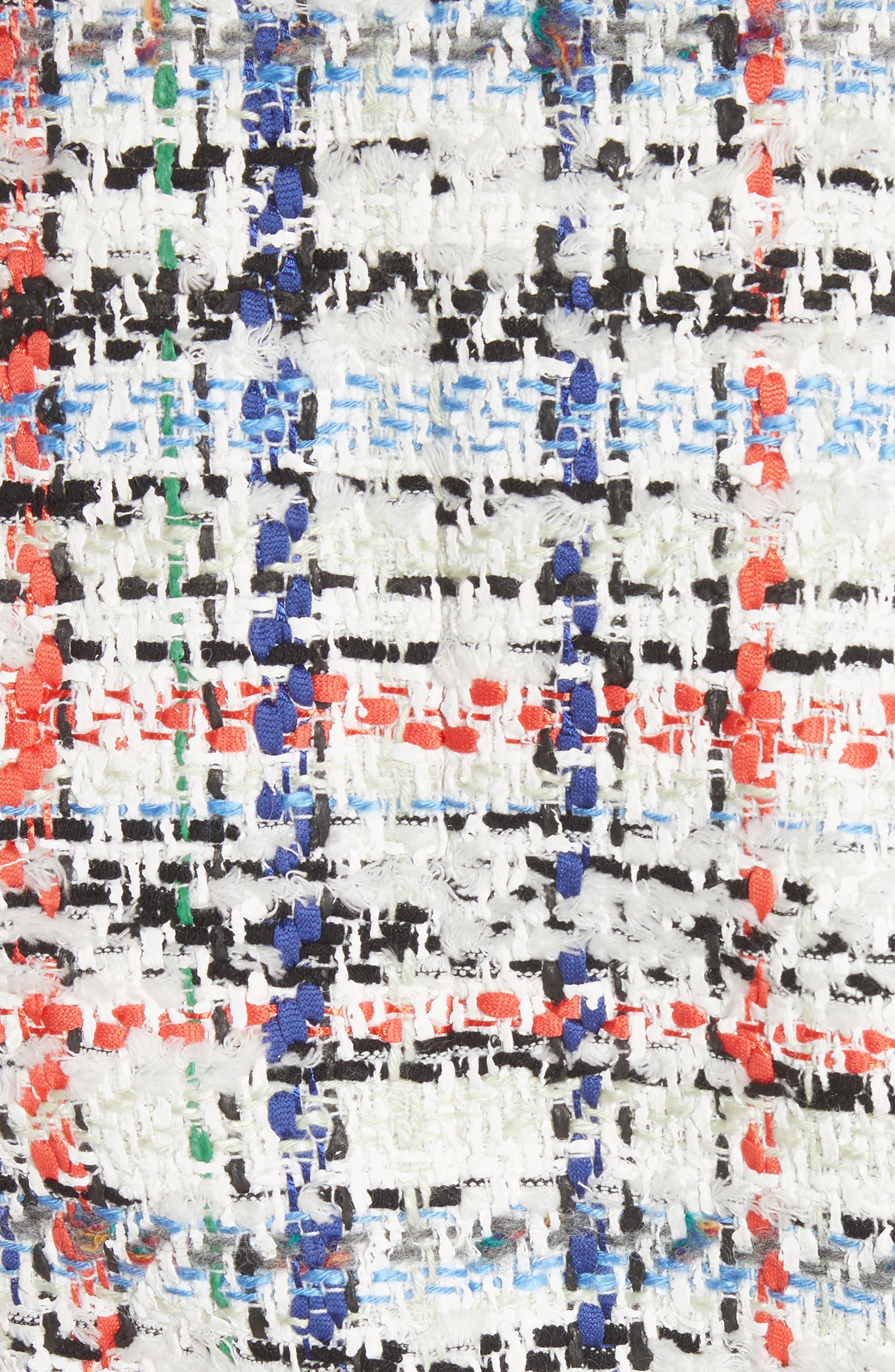 Otis Tweed Jacket,                             Alternate thumbnail 5, color,                             White Combo