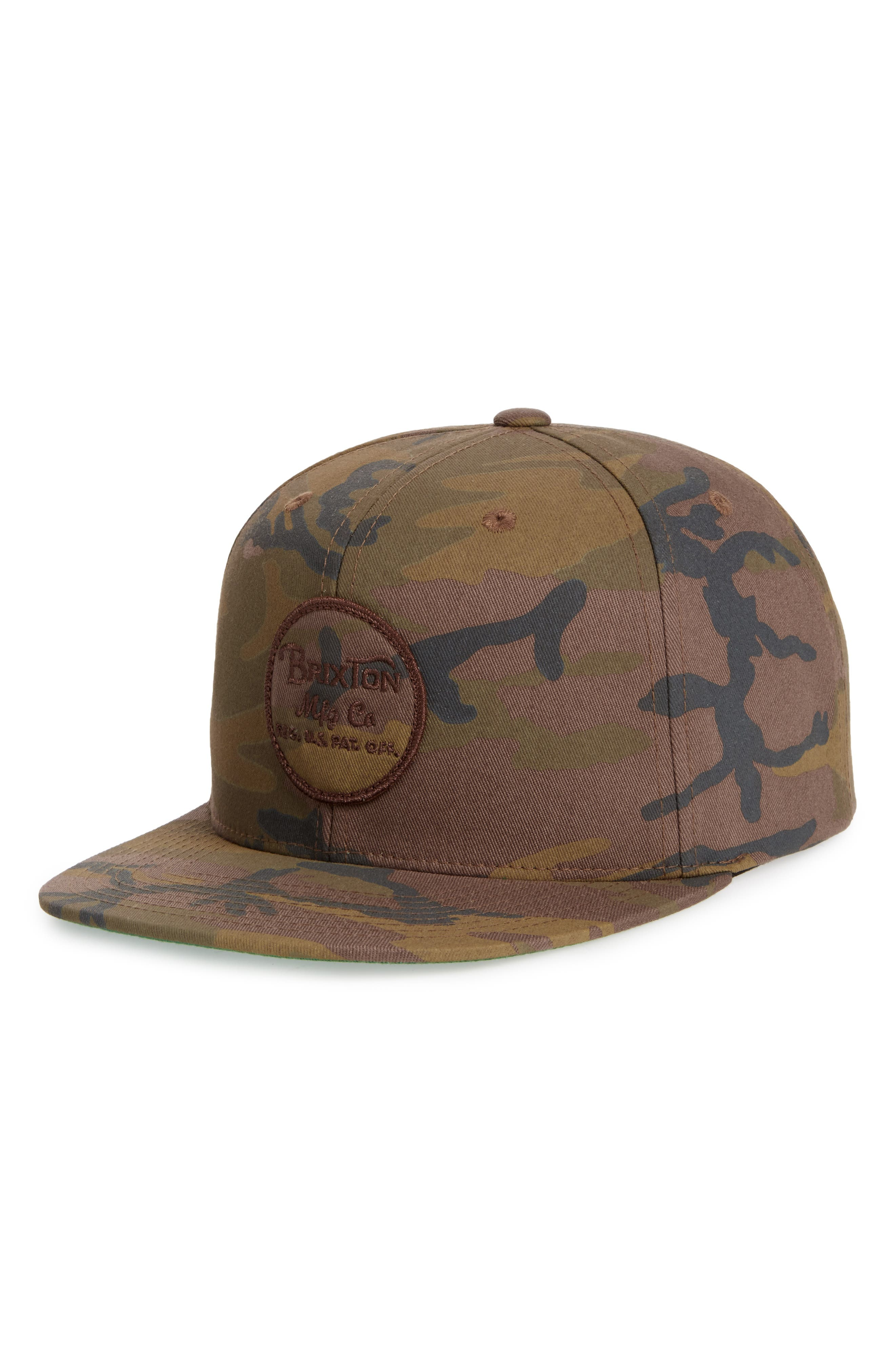 Wheeler Camo Snapback Cap,                             Main thumbnail 1, color,                             Multi Camo