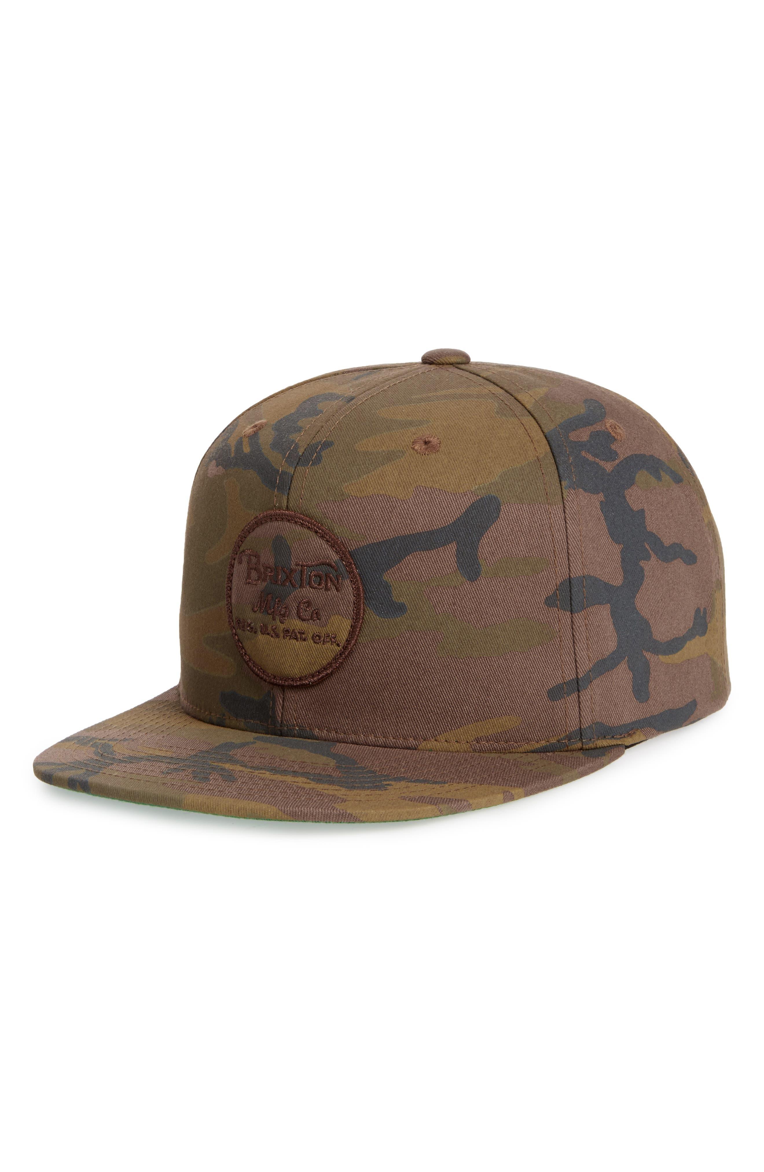 Wheeler Camo Snapback Cap,                         Main,                         color, Multi Camo