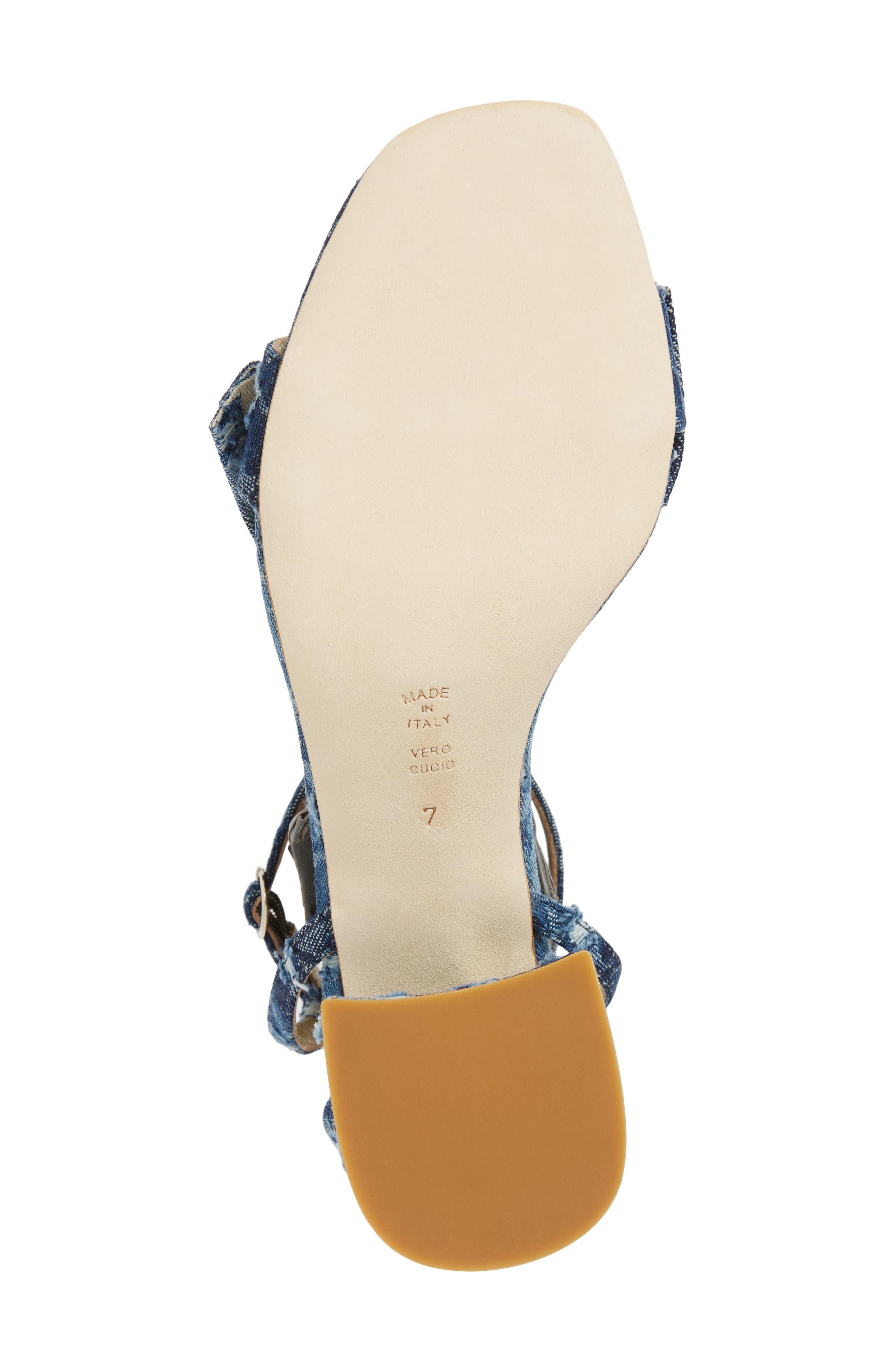 Butter Flower Sandal,                             Alternate thumbnail 6, color,                             Jeans