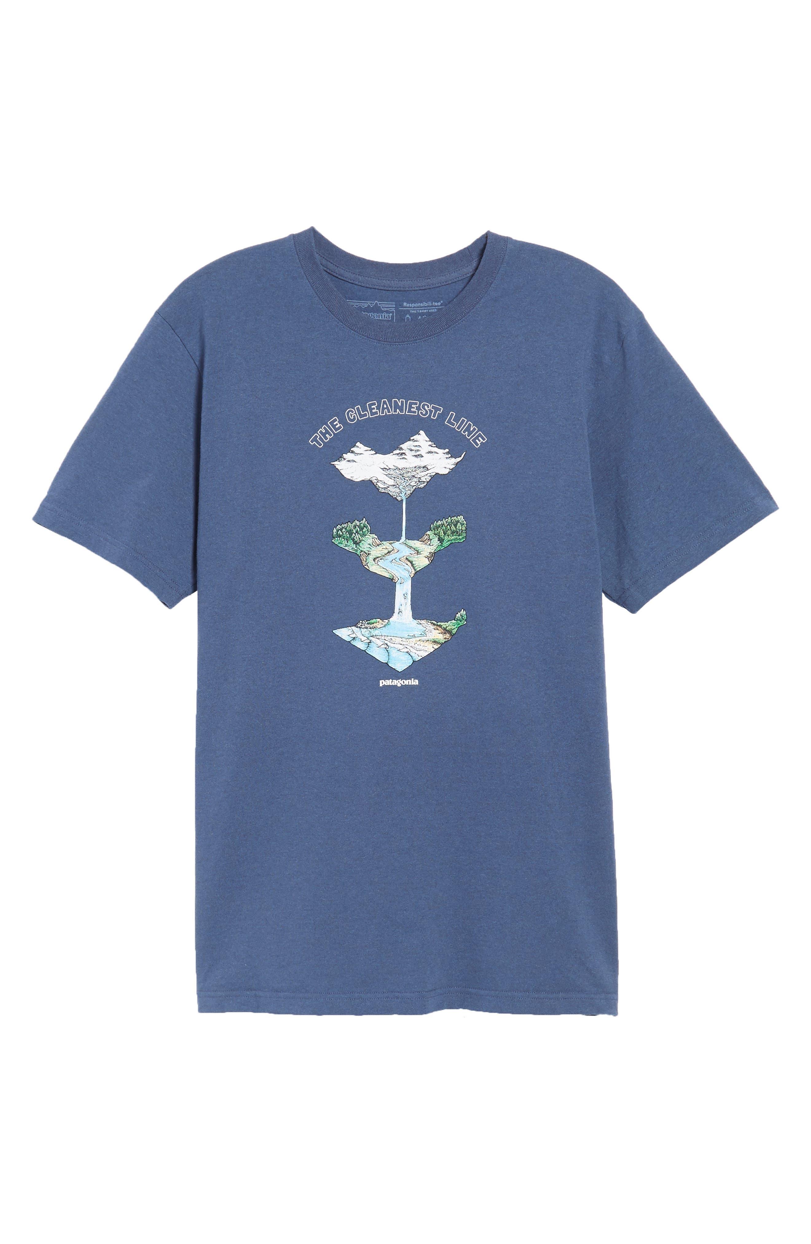 Glacier Born Responsibili-Tee T-Shirt,                             Alternate thumbnail 6, color,                             Dolomite Blue