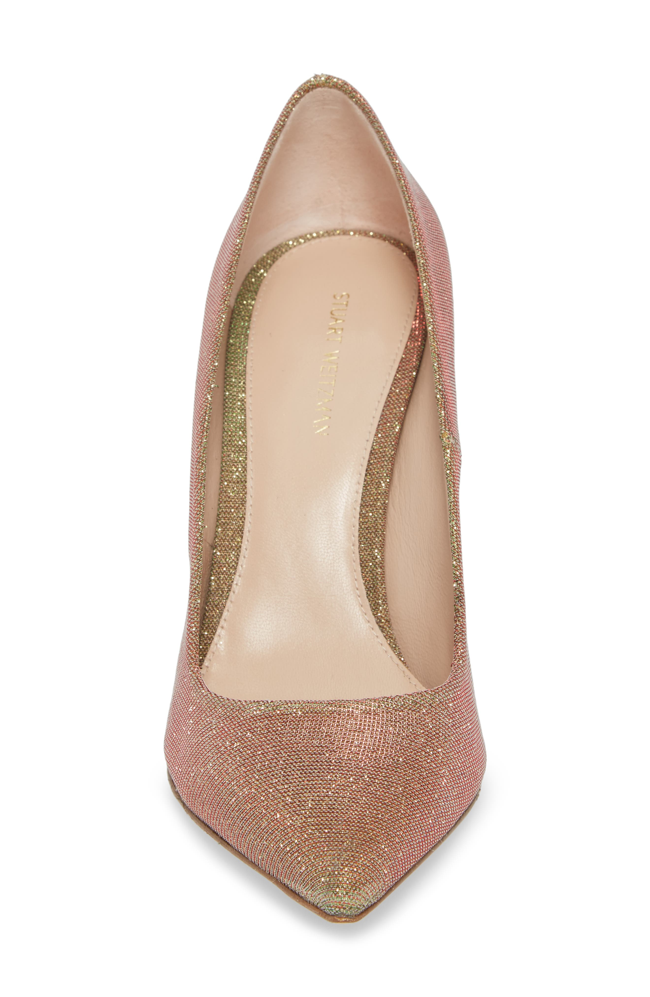 Chicster Pointy Toe Pump,                             Alternate thumbnail 4, color,                             Gold Multi Nighttime