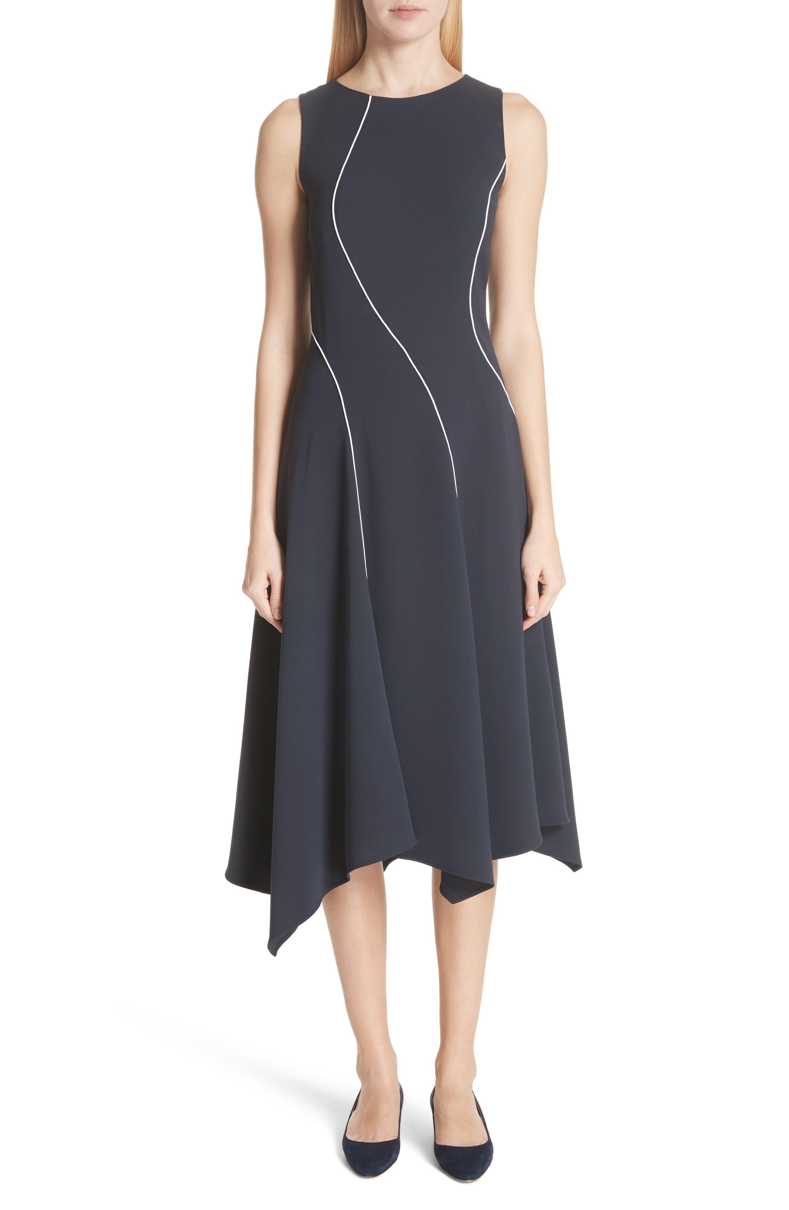 Emberlin Finesse Crepe Dress,                         Main,                         color, Ink/ Cloud