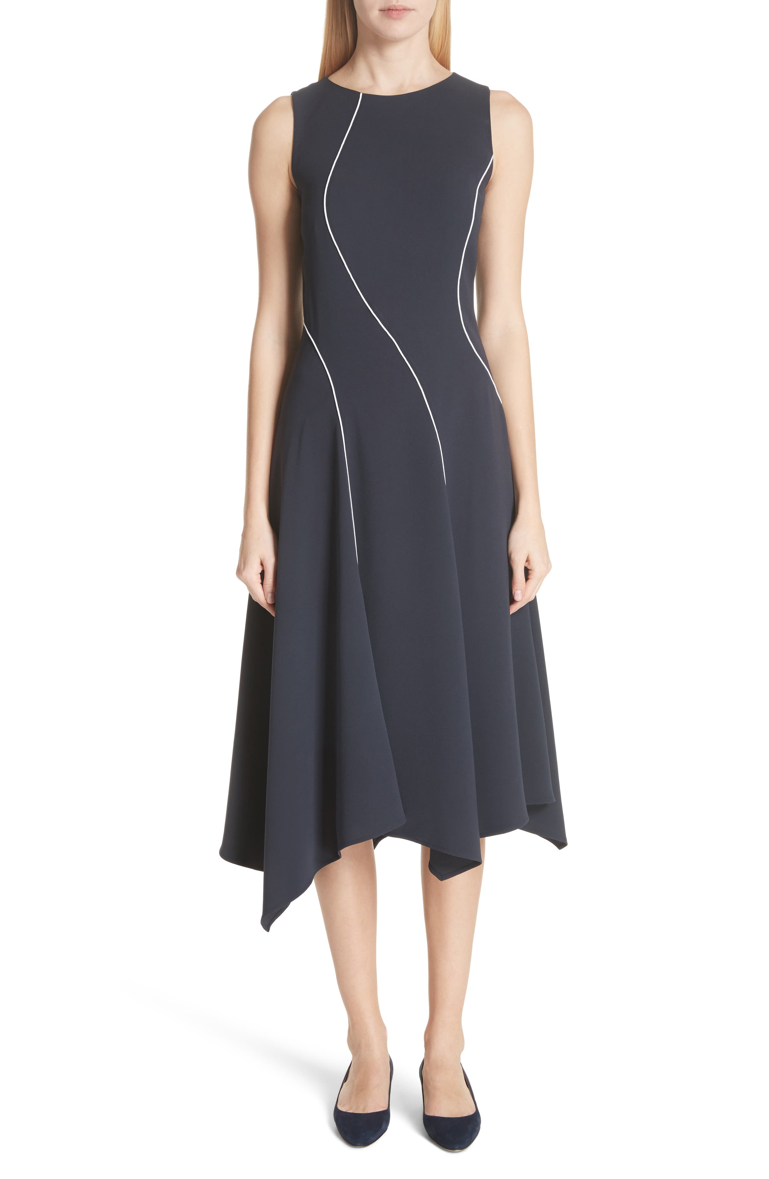 Lafayette 148 New York Emberlin Finesse Crepe Dress