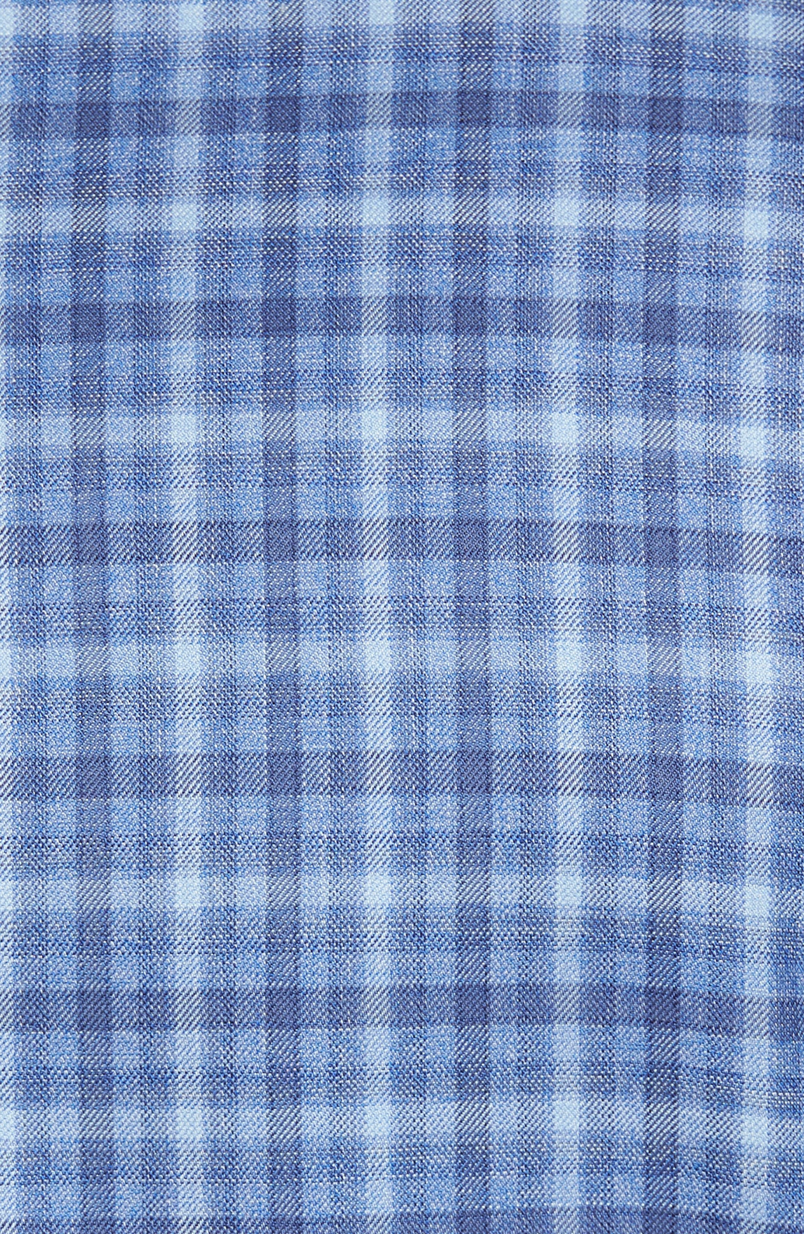 Arnold Classic Fit Plaid Wool Sport Coat,                             Alternate thumbnail 5, color,                             Blue