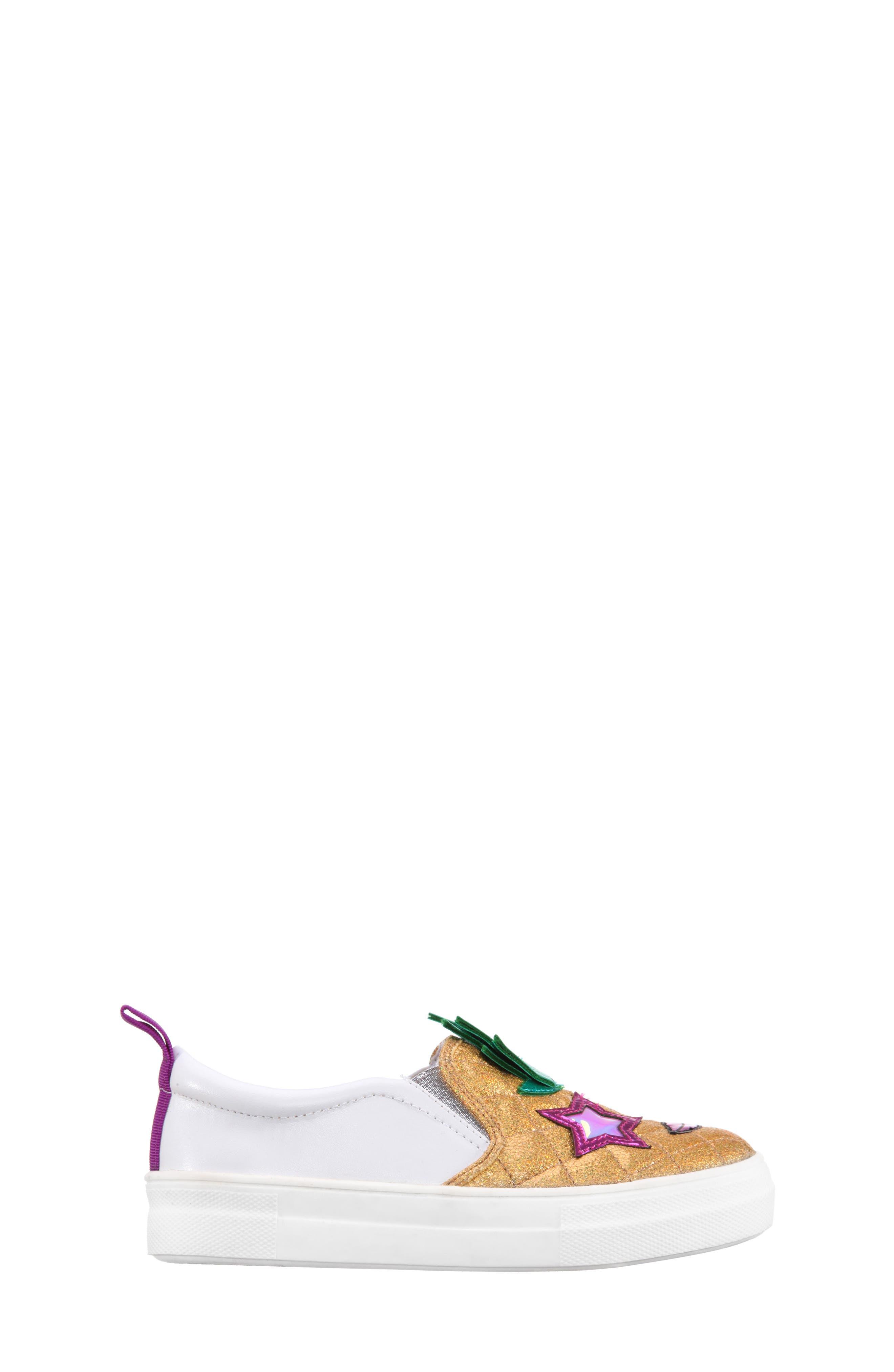 Alternate Image 3  - Nina Samanntha Pineapple Slip-On Sneaker (Toddler, Little Kid & Big Kid)