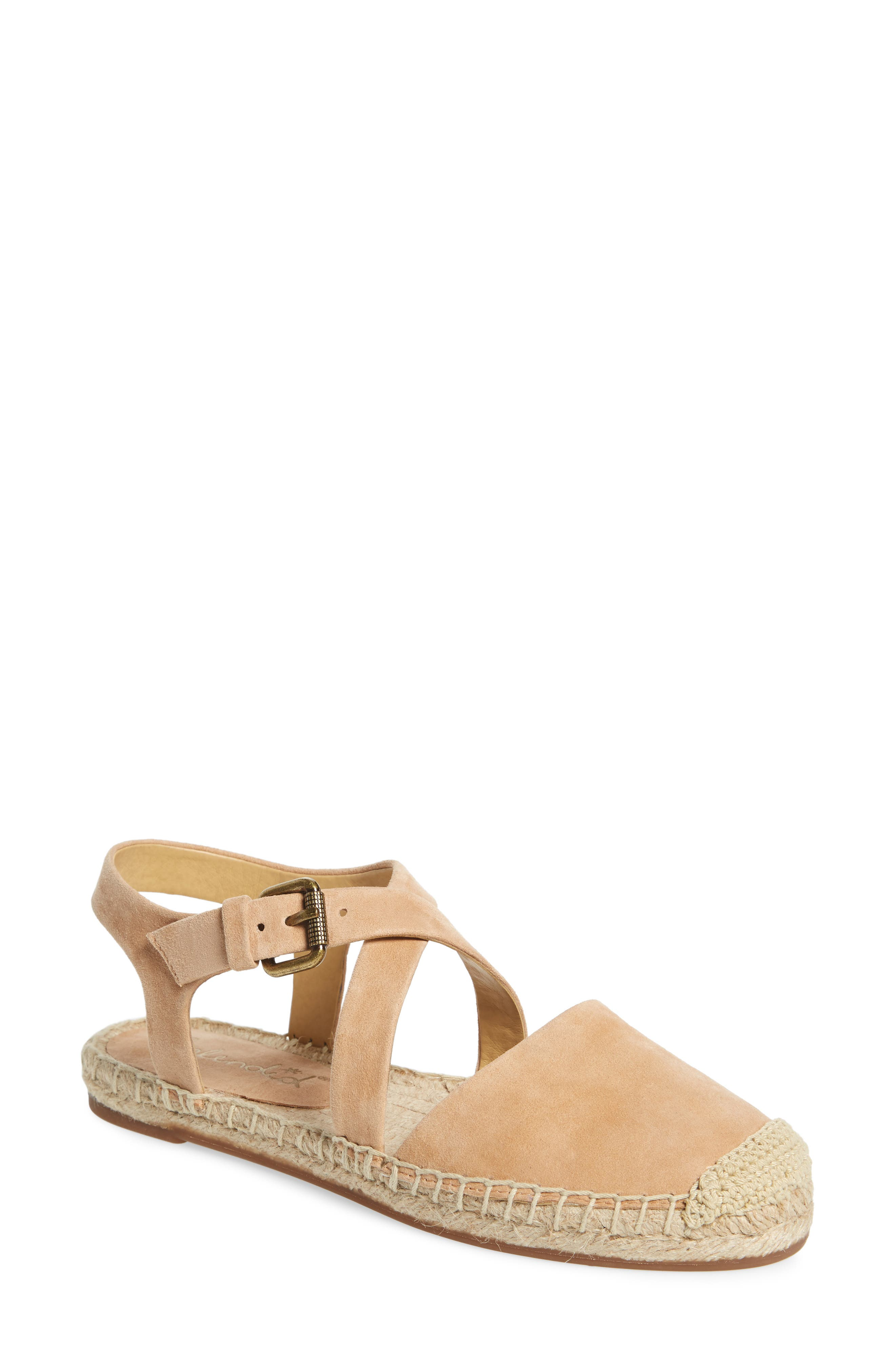 Foley Espadrille Flat,                             Main thumbnail 1, color,                             Nude Suede