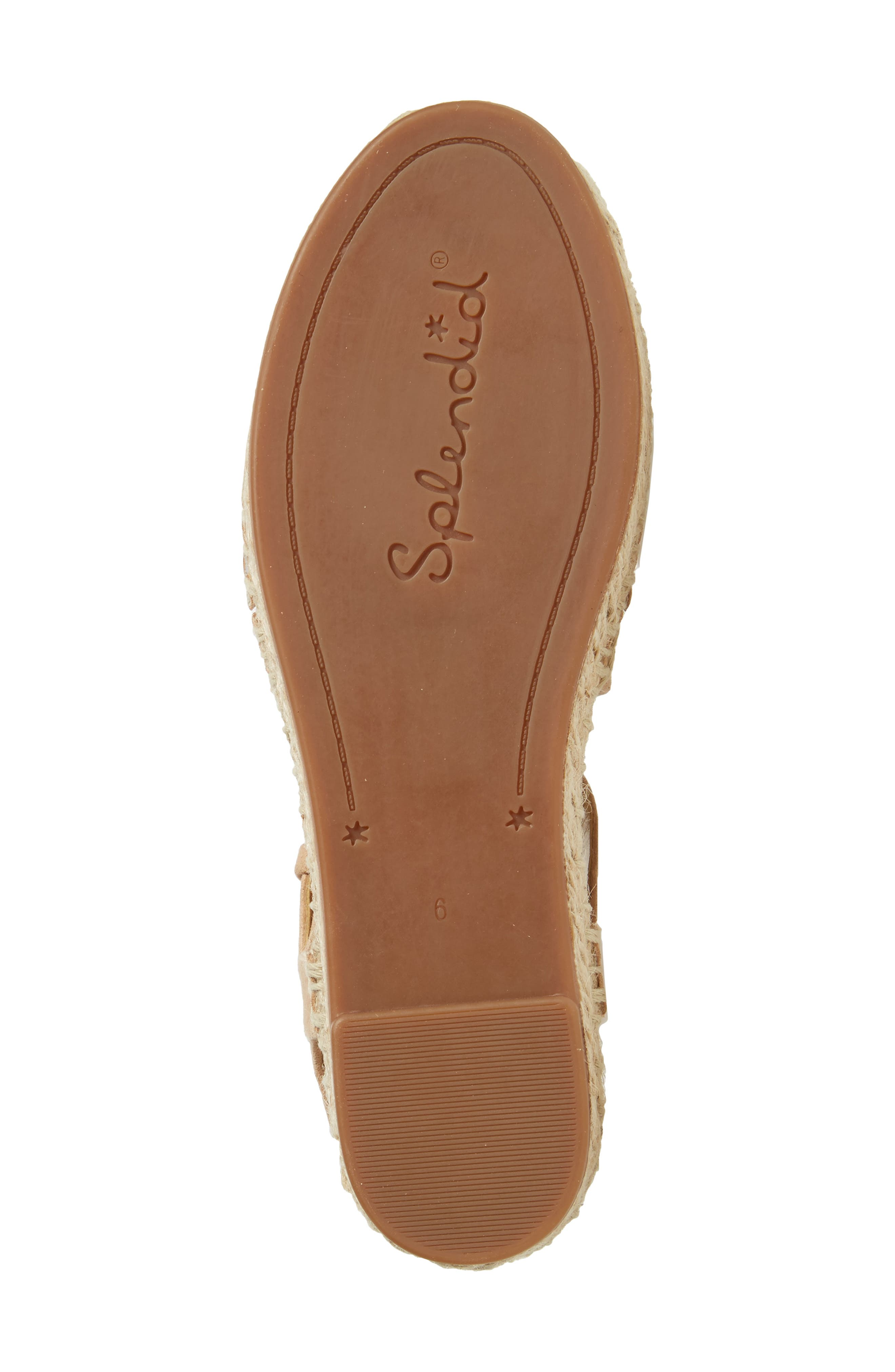Foley Espadrille Flat,                             Alternate thumbnail 6, color,                             Nude Suede
