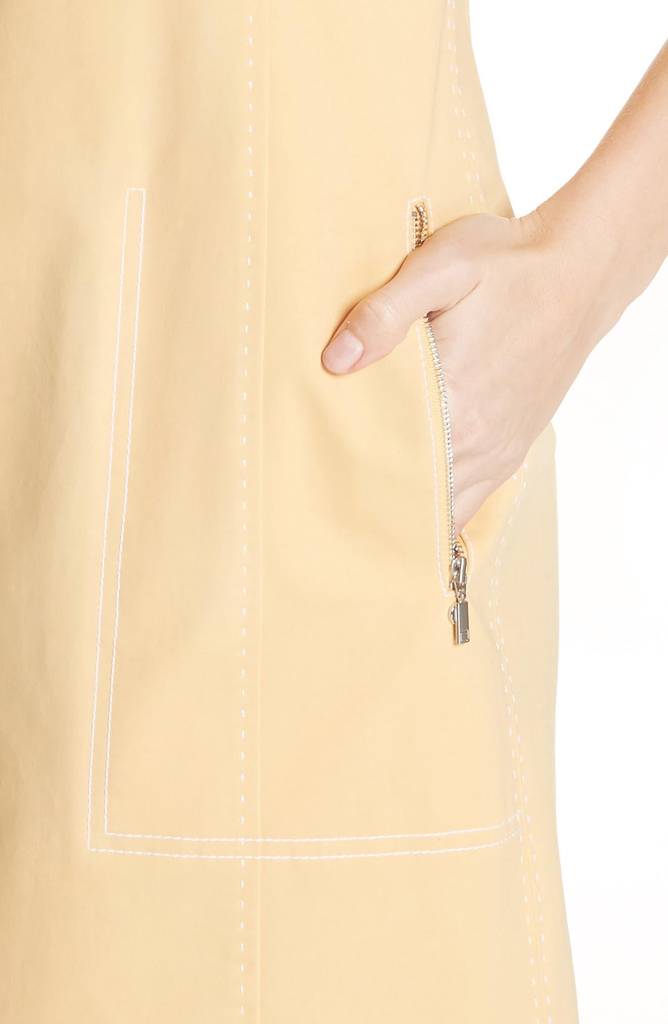 Paxton Sleeveless Sheath Dress,                             Alternate thumbnail 4, color,                             Sienna Yellow