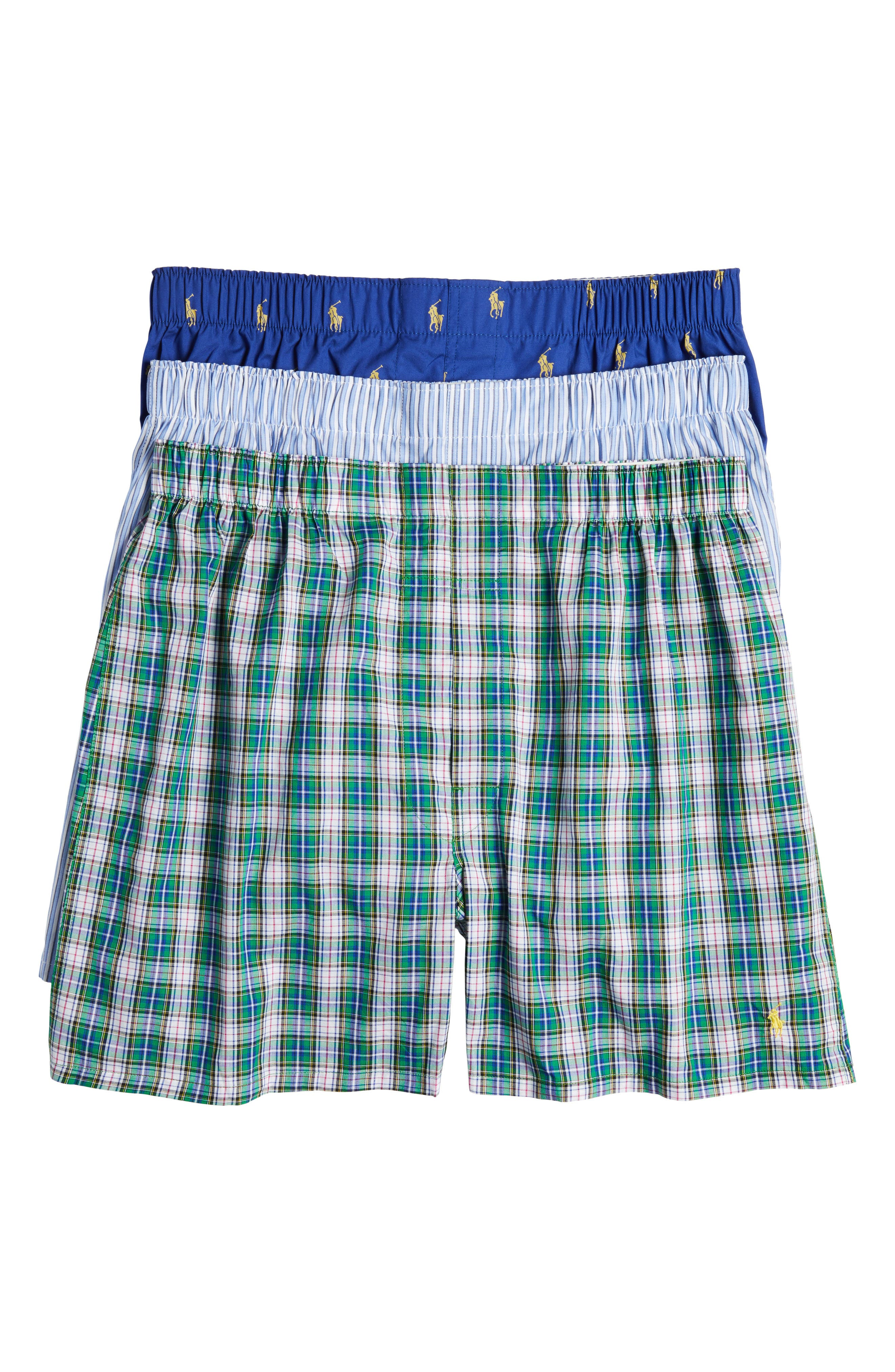 3-Pack Cotton Boxers,                         Main,                         color, Bright Navy/ Blue/ Green