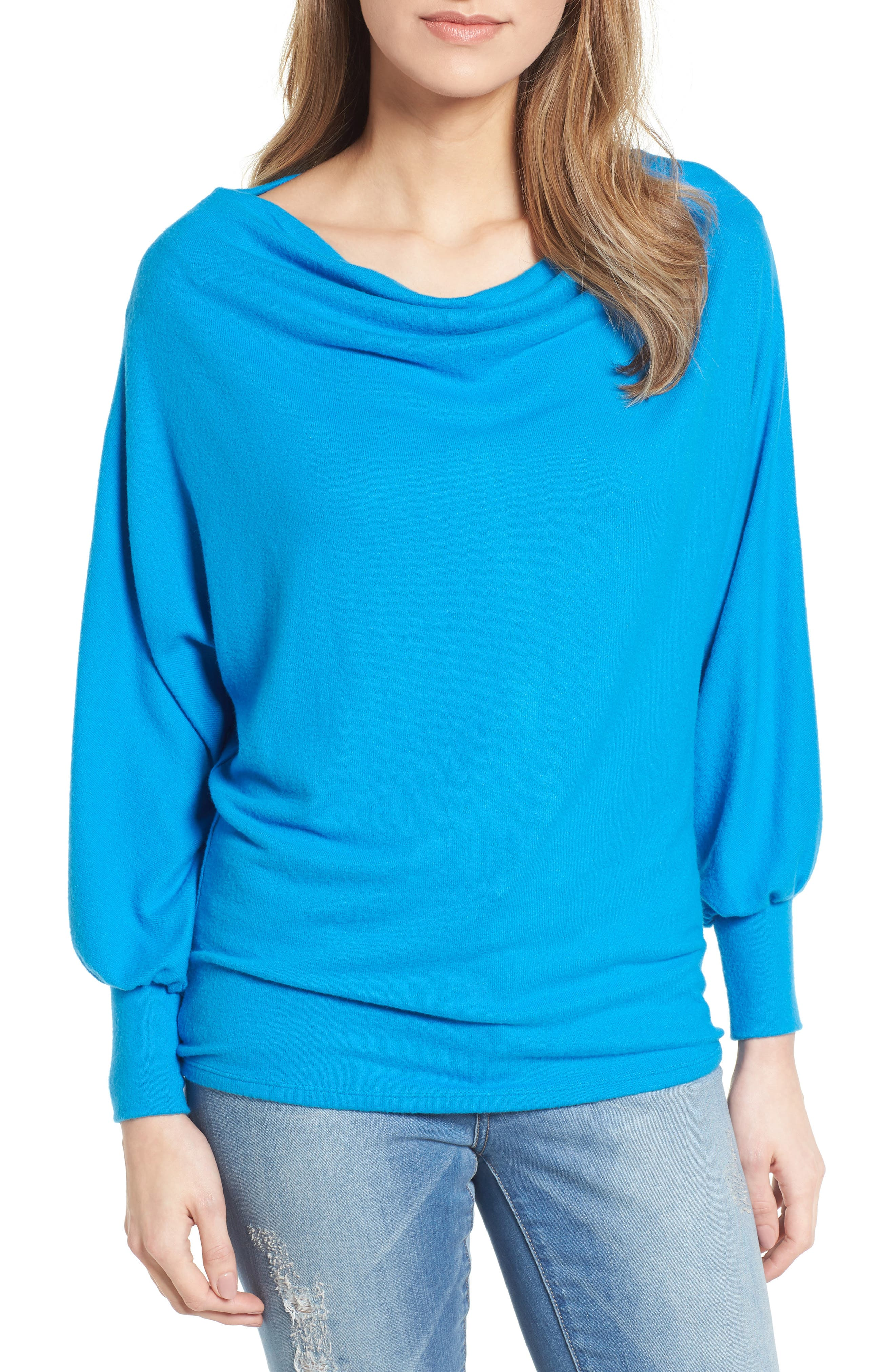 Gibson Drape Dolman Cozy Fleece Top (Regular & Petite)