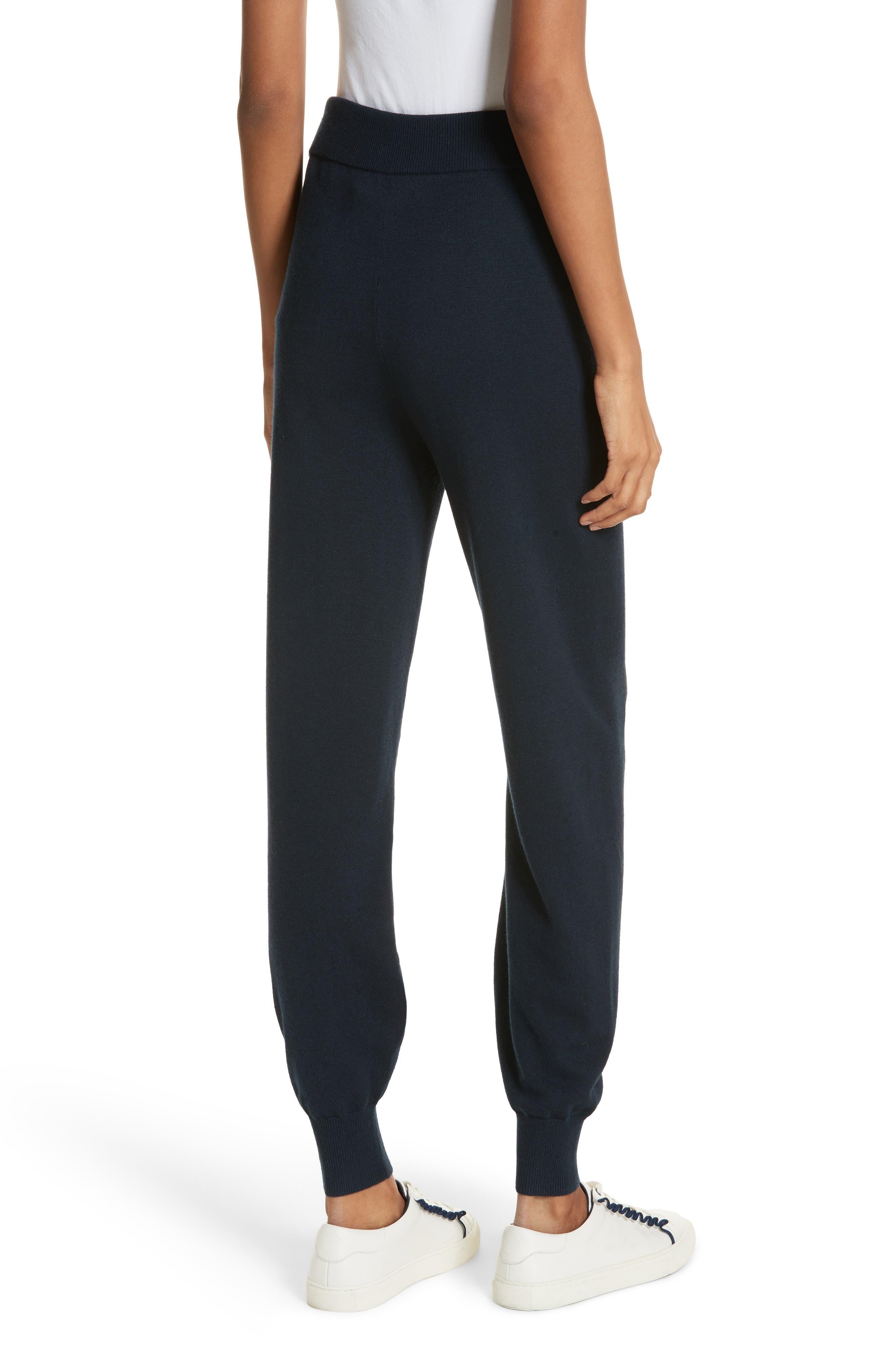 Performance Cashmere Blend Lounge Pants,                             Alternate thumbnail 3, color,                             Tory Navy