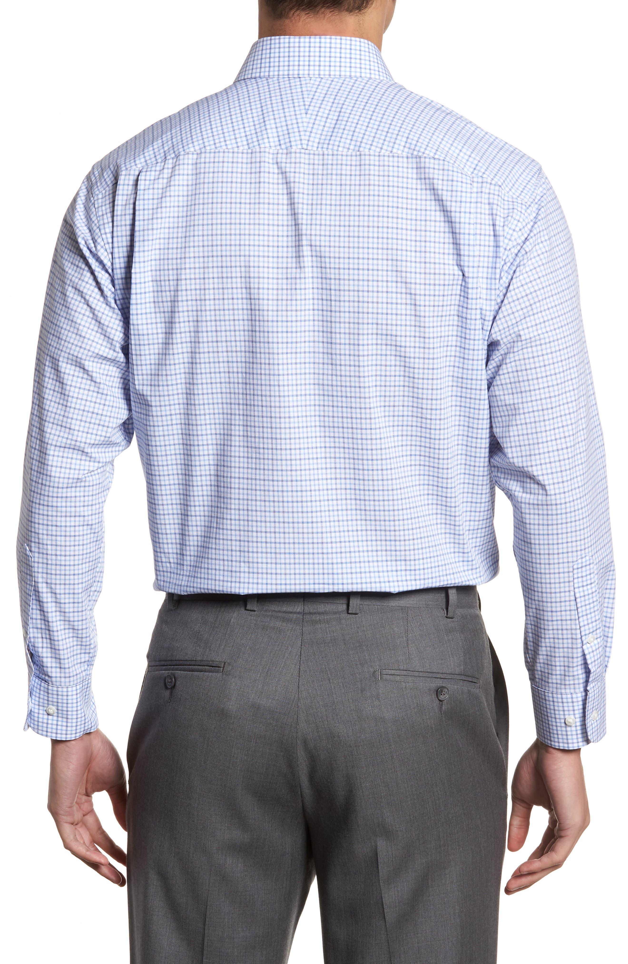 Classic Fit Check Dress Shirt,                             Alternate thumbnail 3, color,                             Blue Marine